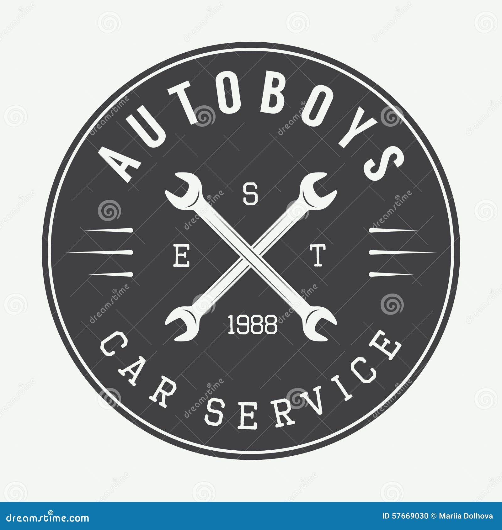 Label, emblème et logo de mécanicien de vintage