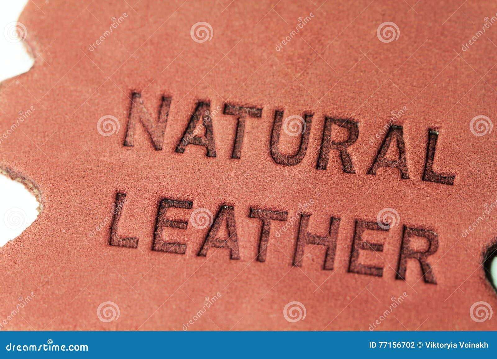 Label en cuir naturel