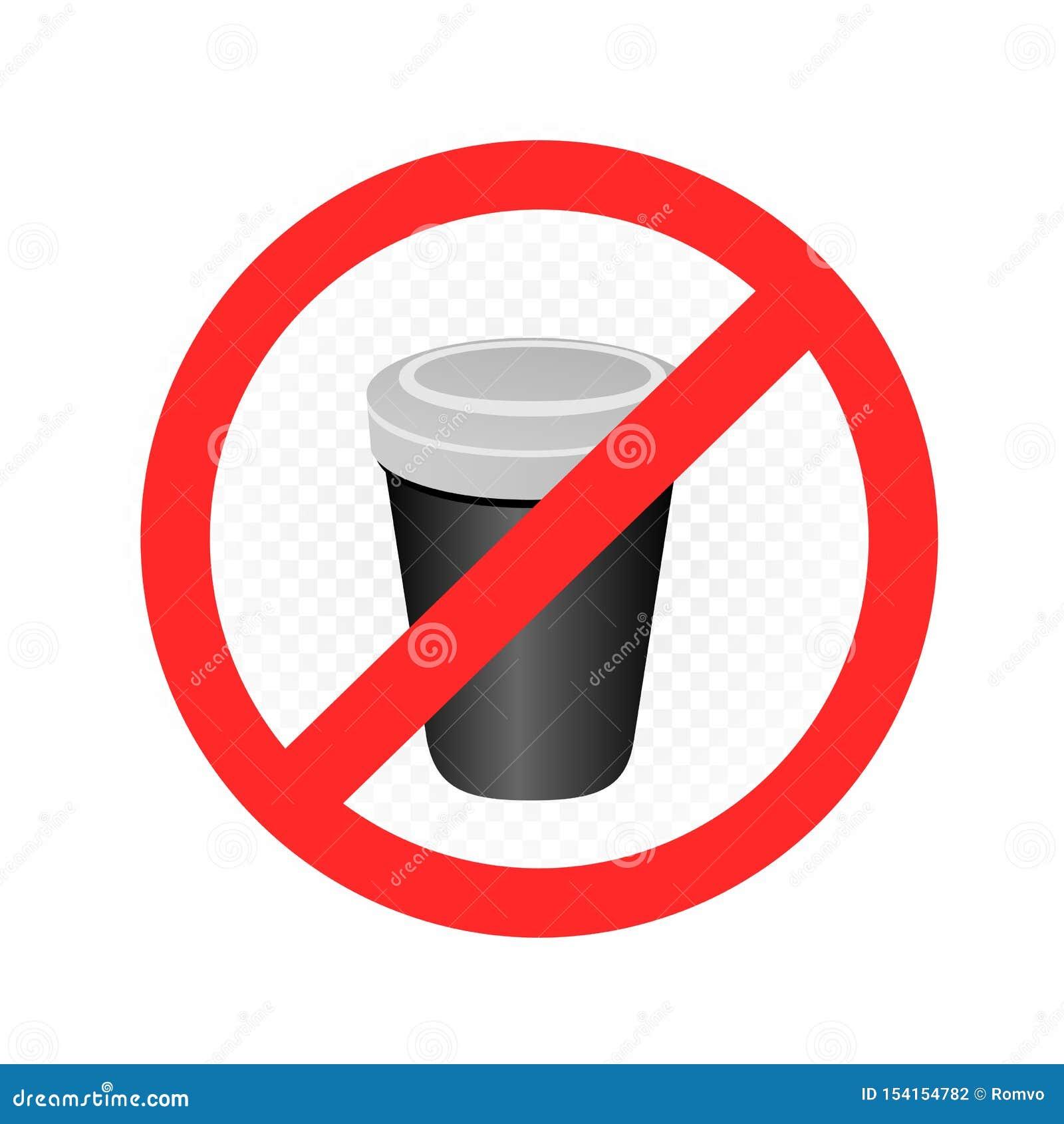 Label en plastique d interdiction de tasse