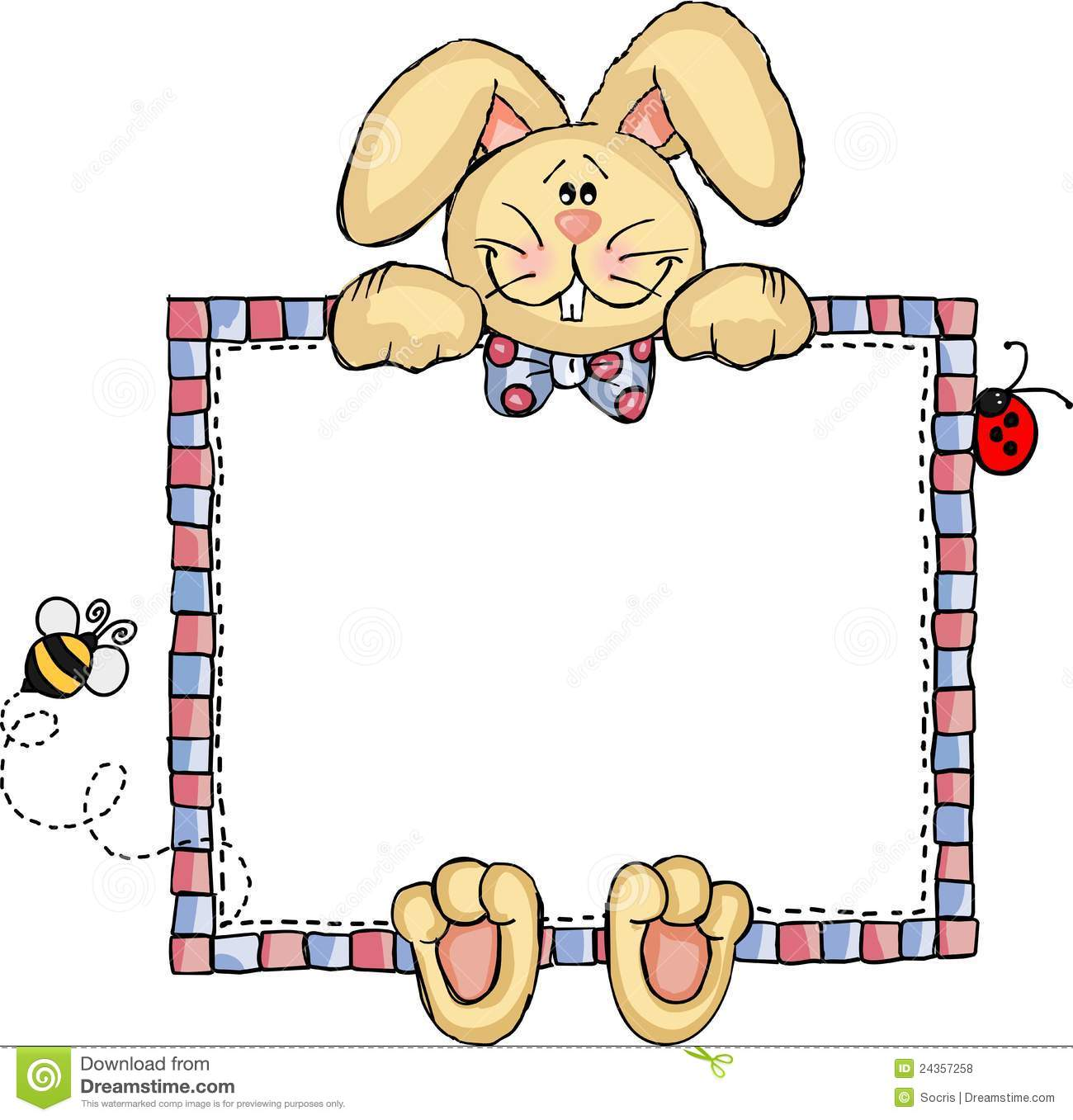 label frame bunny royalty free stock photos