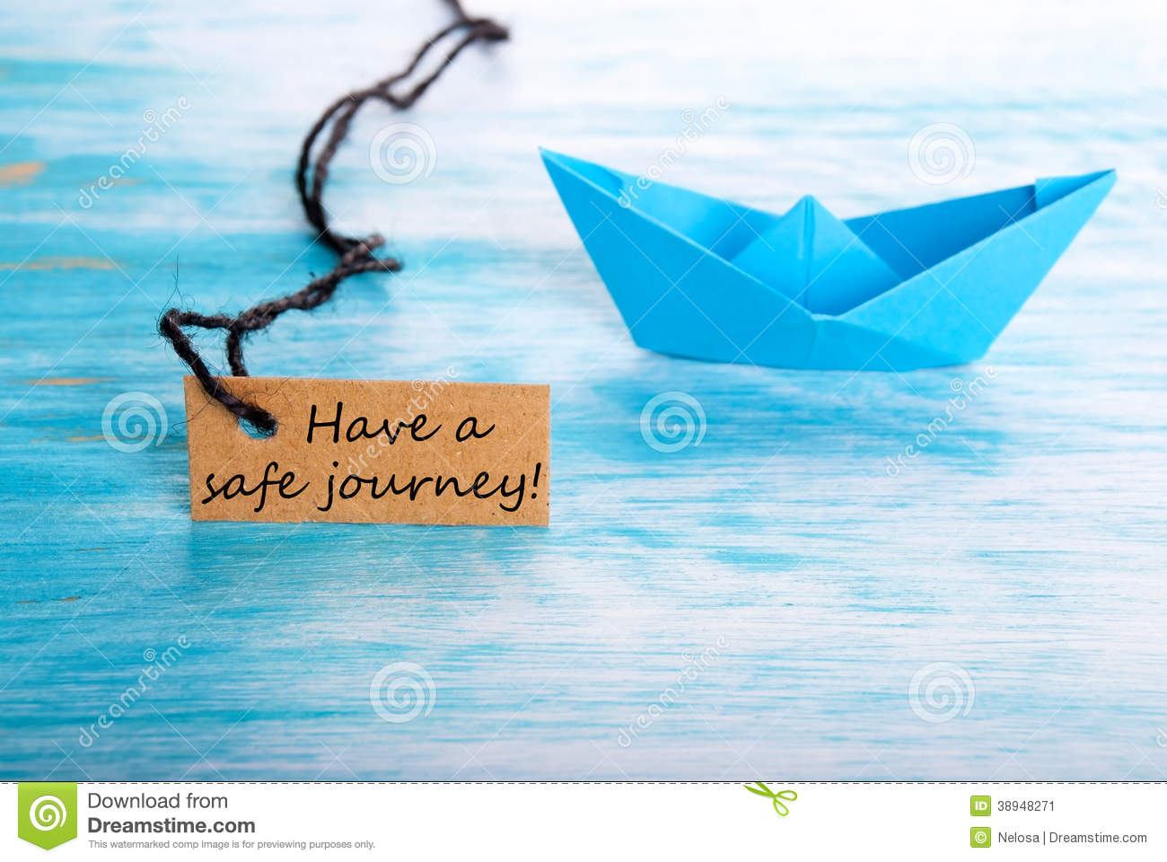 Label With Have A Safe Journey Stock Photo