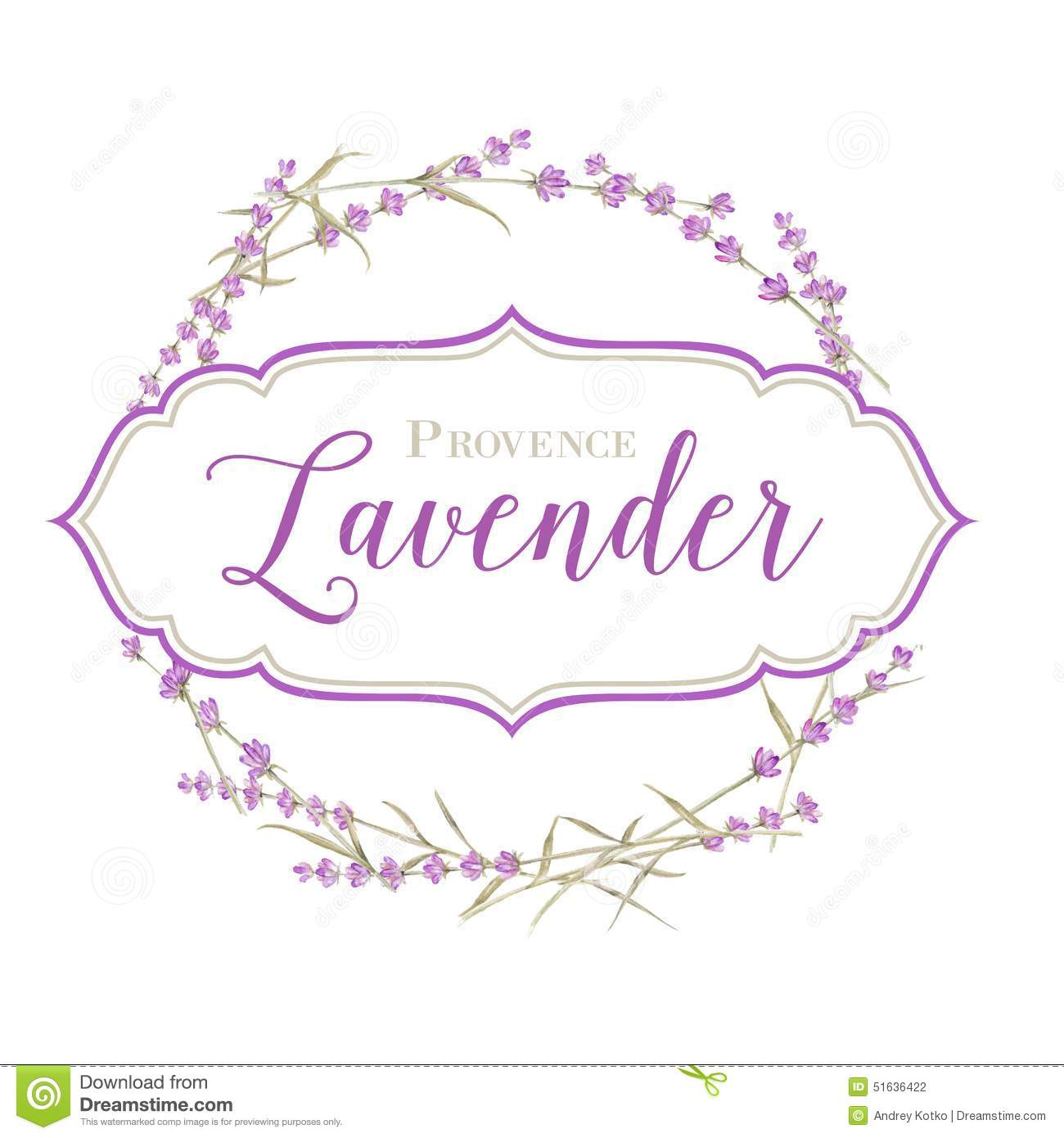 Label with lavender flowers and damask frame. Vector illustration. Pencil Drawing Pictures Of Flowers