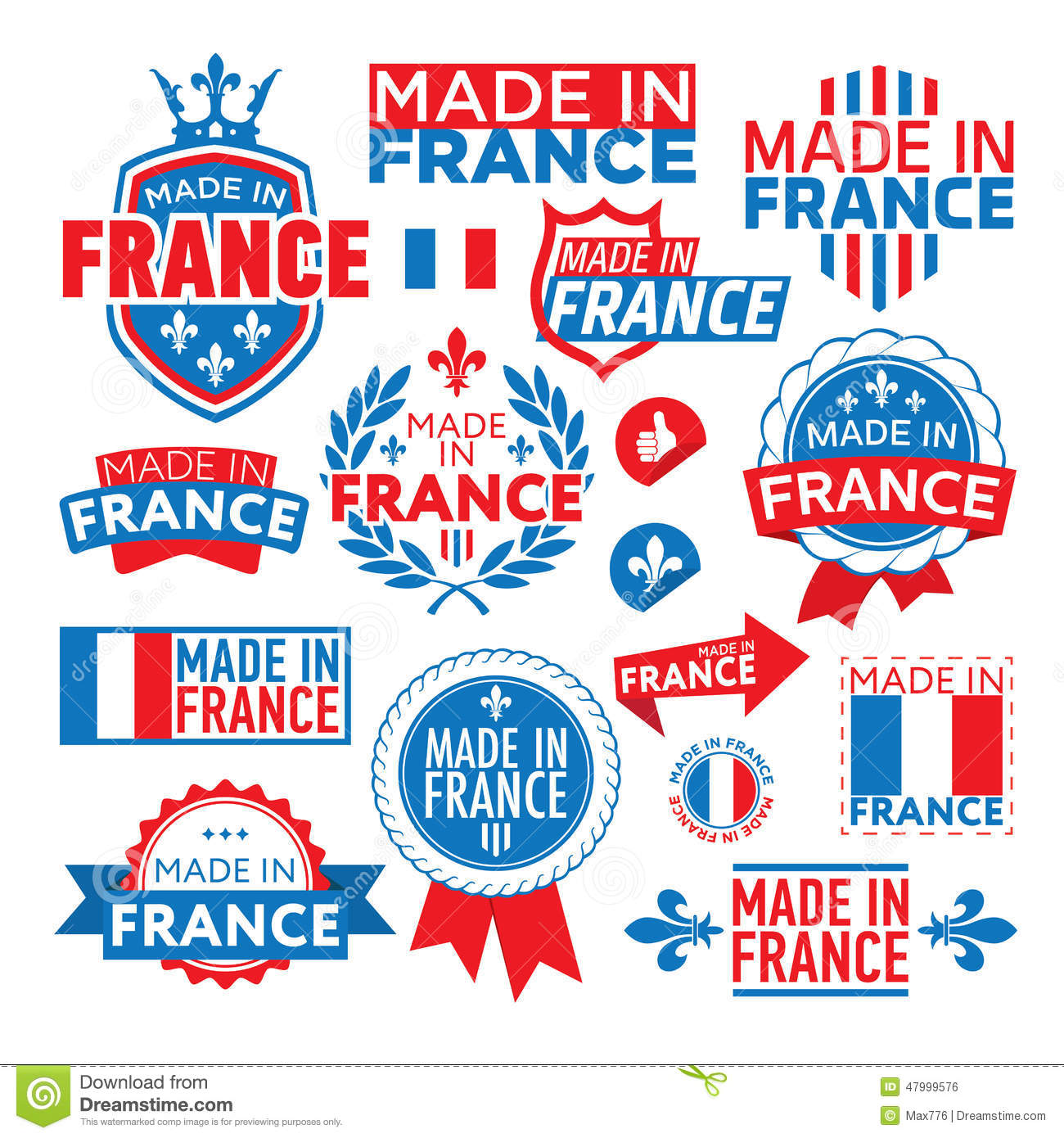 The label made in france stock vector image 47999576 for Bouilloire made in france