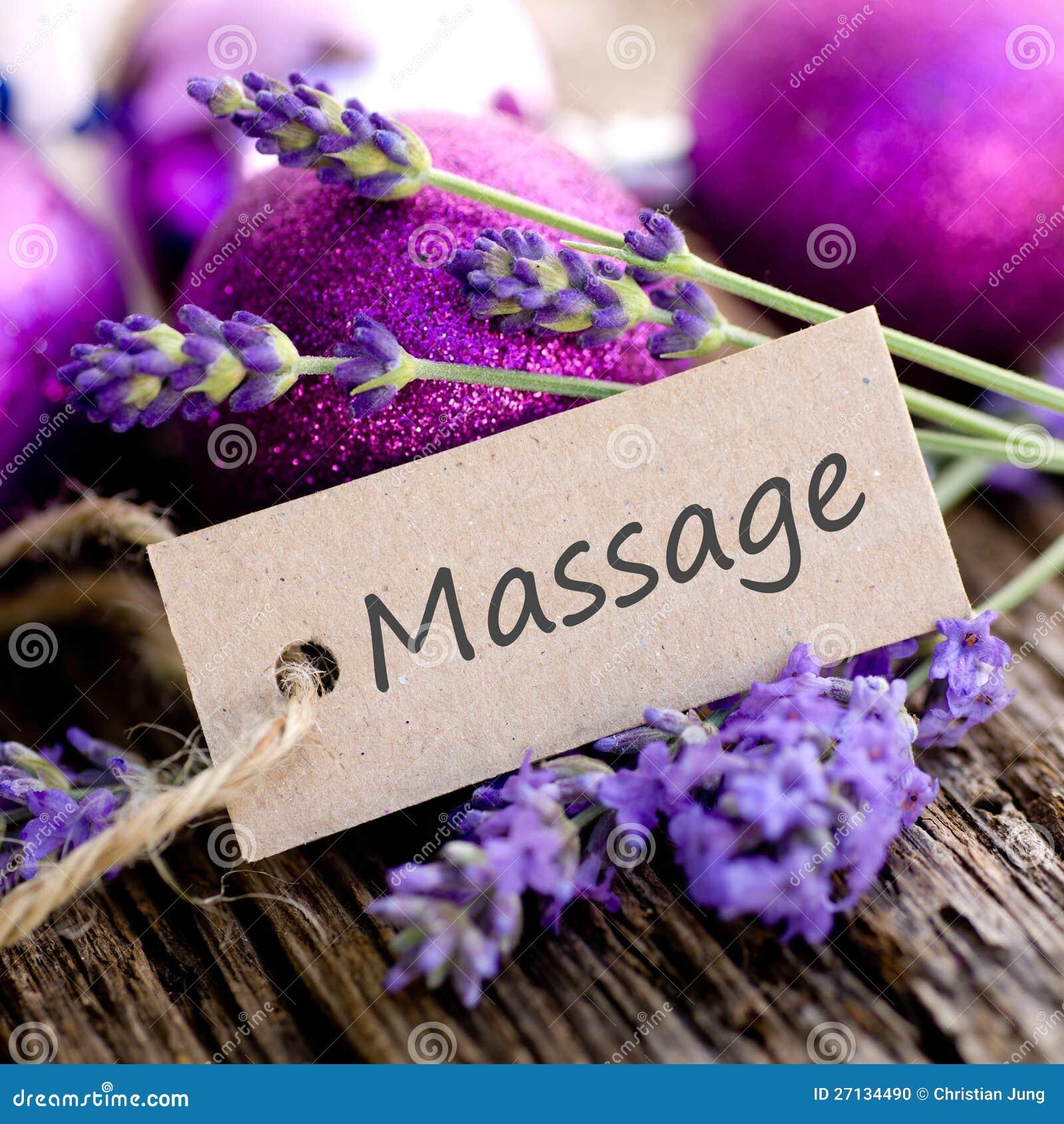 Label Massage Stock Photo Image 27134490