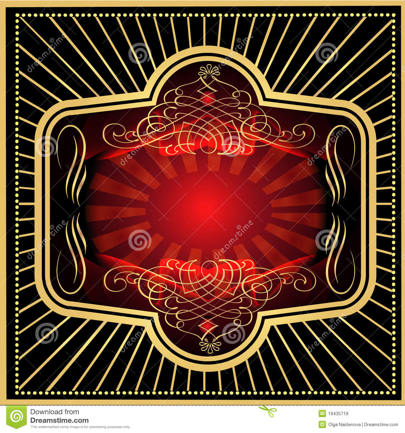 Label red with black gold royalty free stock images for Red with gold