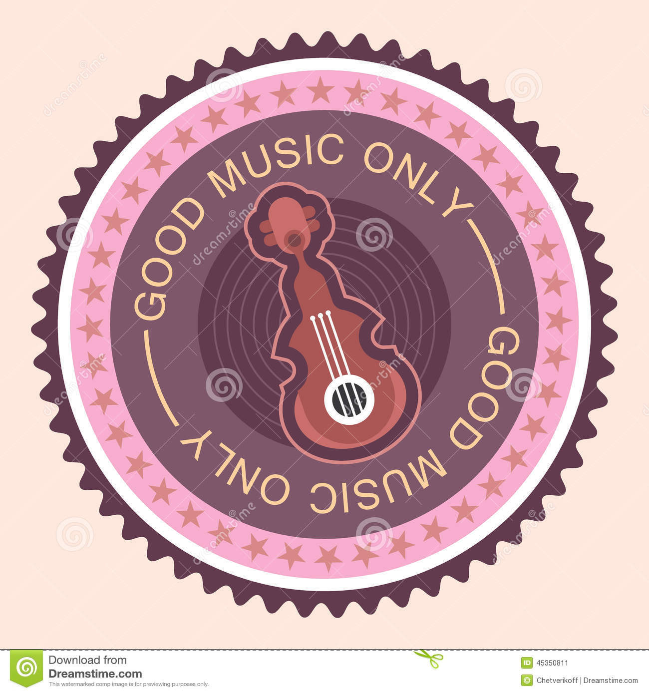 Label rond musical