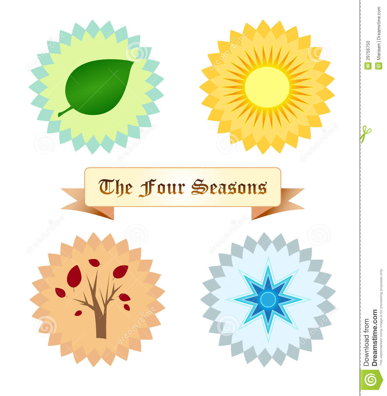Four seasons symbols royalty free illustration 47700711 - Autumn plowing time all set for winter ...