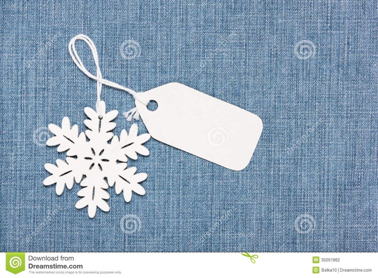 Label Tag And Snowflake On Jeans Stock Photography Image