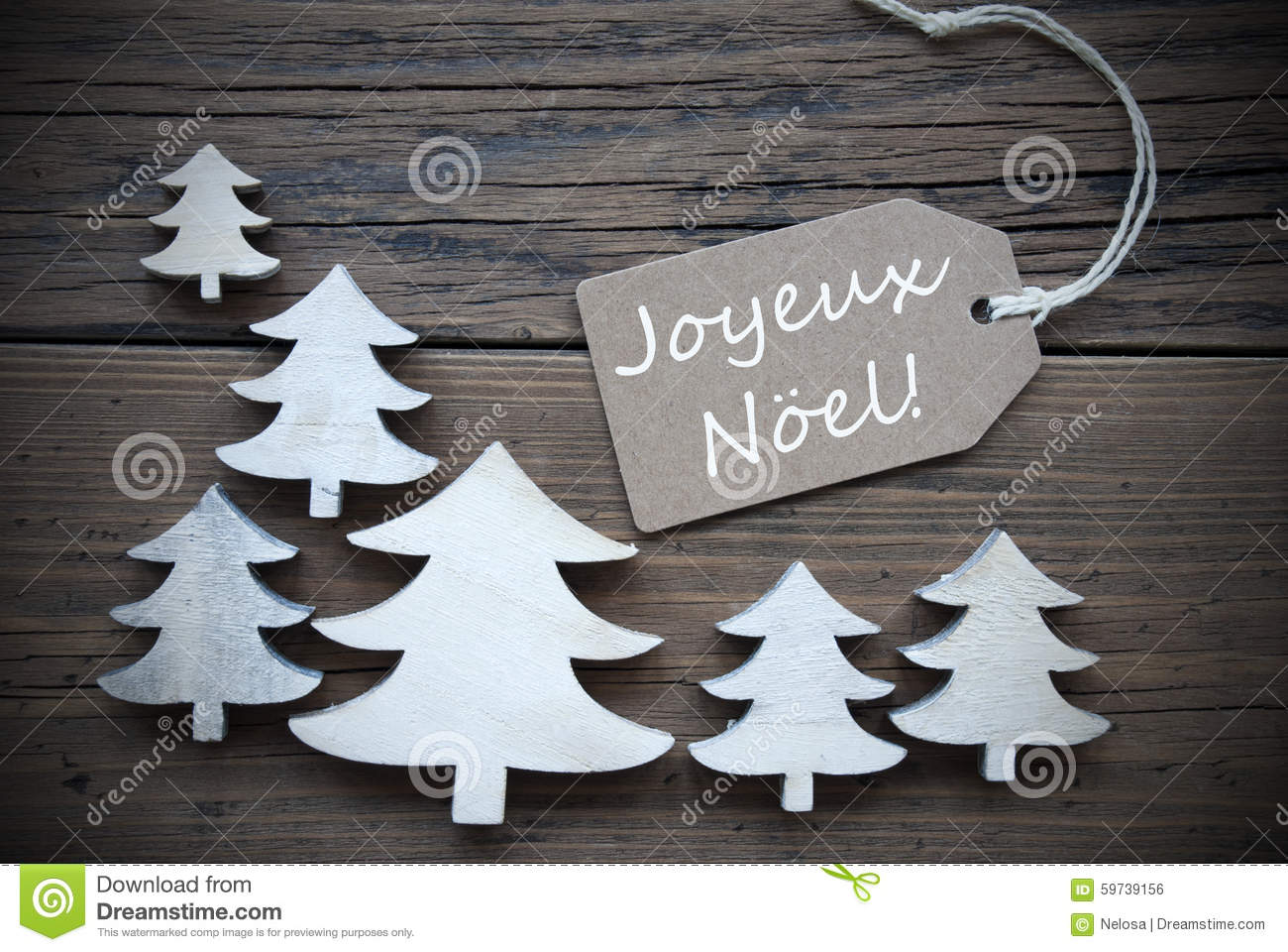 label and trees joyeux noel mean merry christmas stock. Black Bedroom Furniture Sets. Home Design Ideas