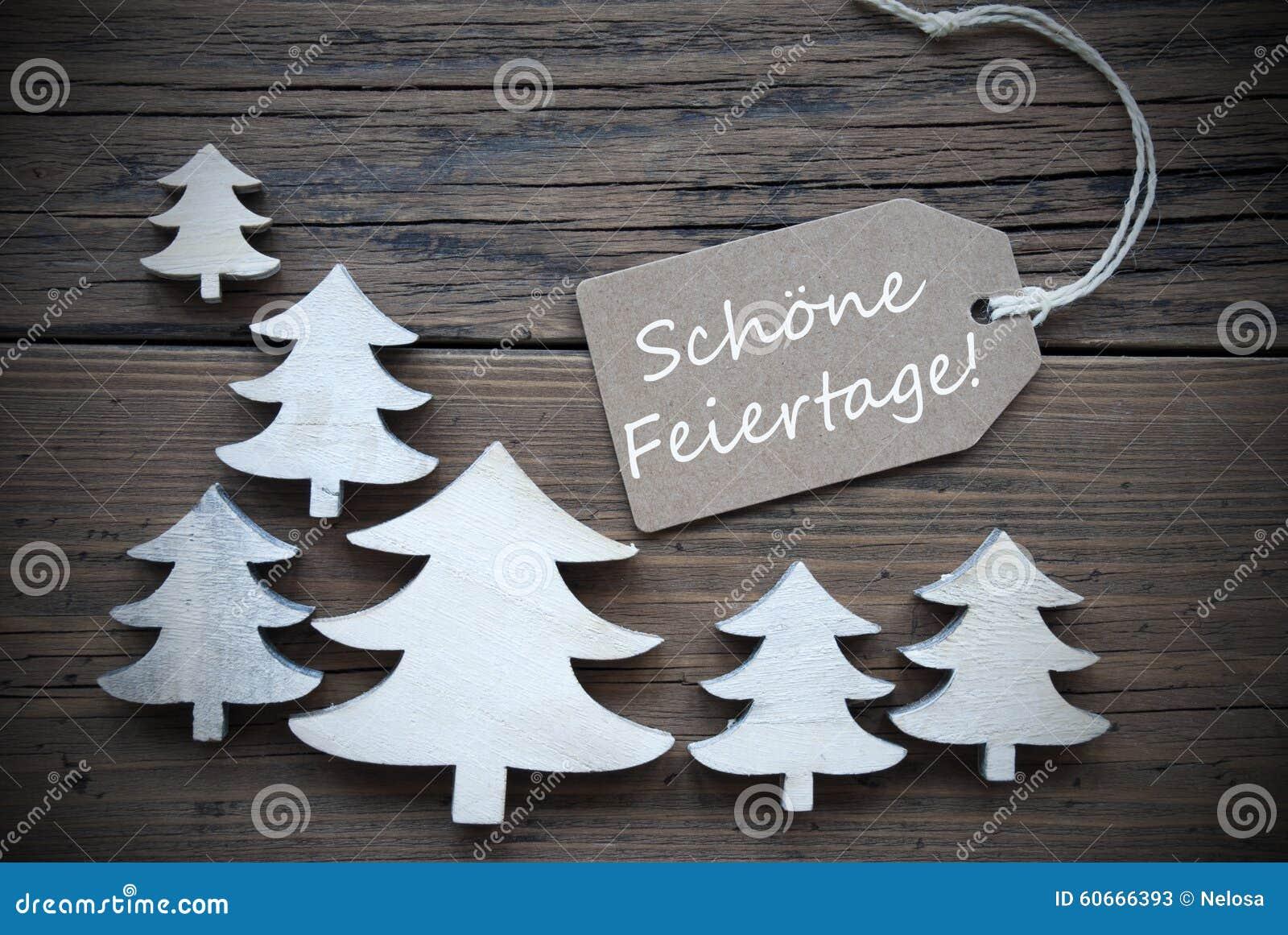 Vintage Bilder Weihnachten.Label Trees Schoene Feiertage Mean Merry Christmas Stock Image