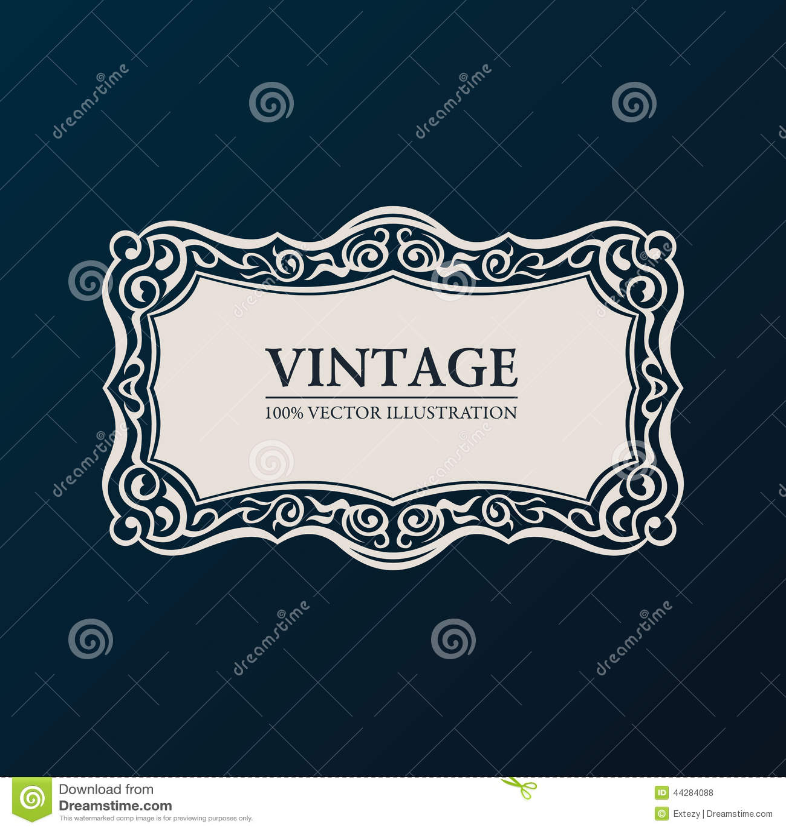 Label vector framework. Vintage banner decor