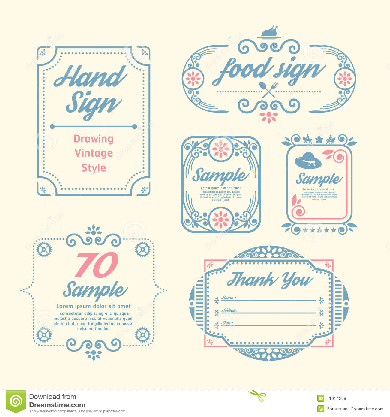 label vintage design labels infographic template stock vector