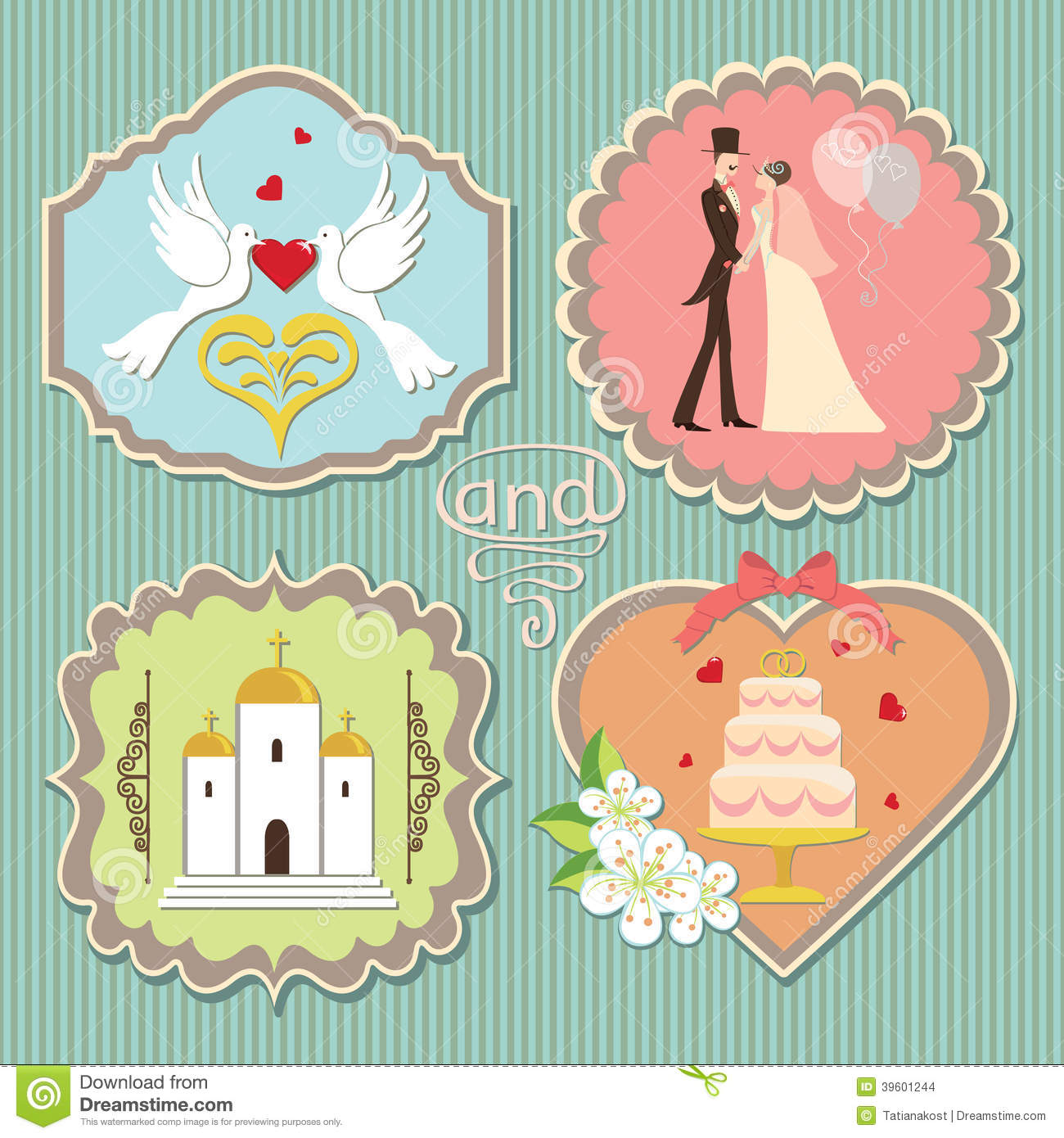 Label With Wedding Elements Stock Vector Illustration Of Groom - Wedding label templates