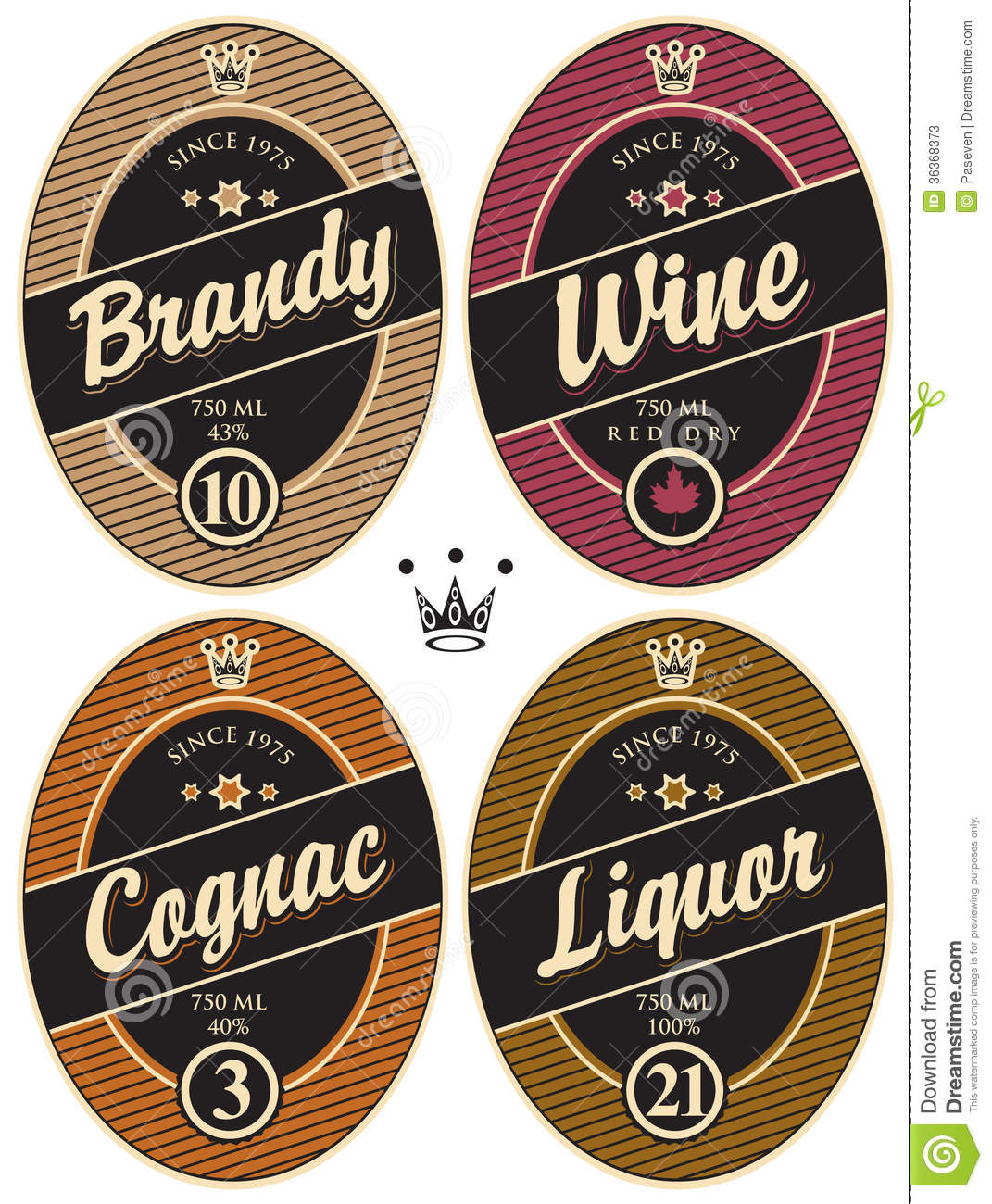 Labels For Alcoholic Stock Photos Image 36368373