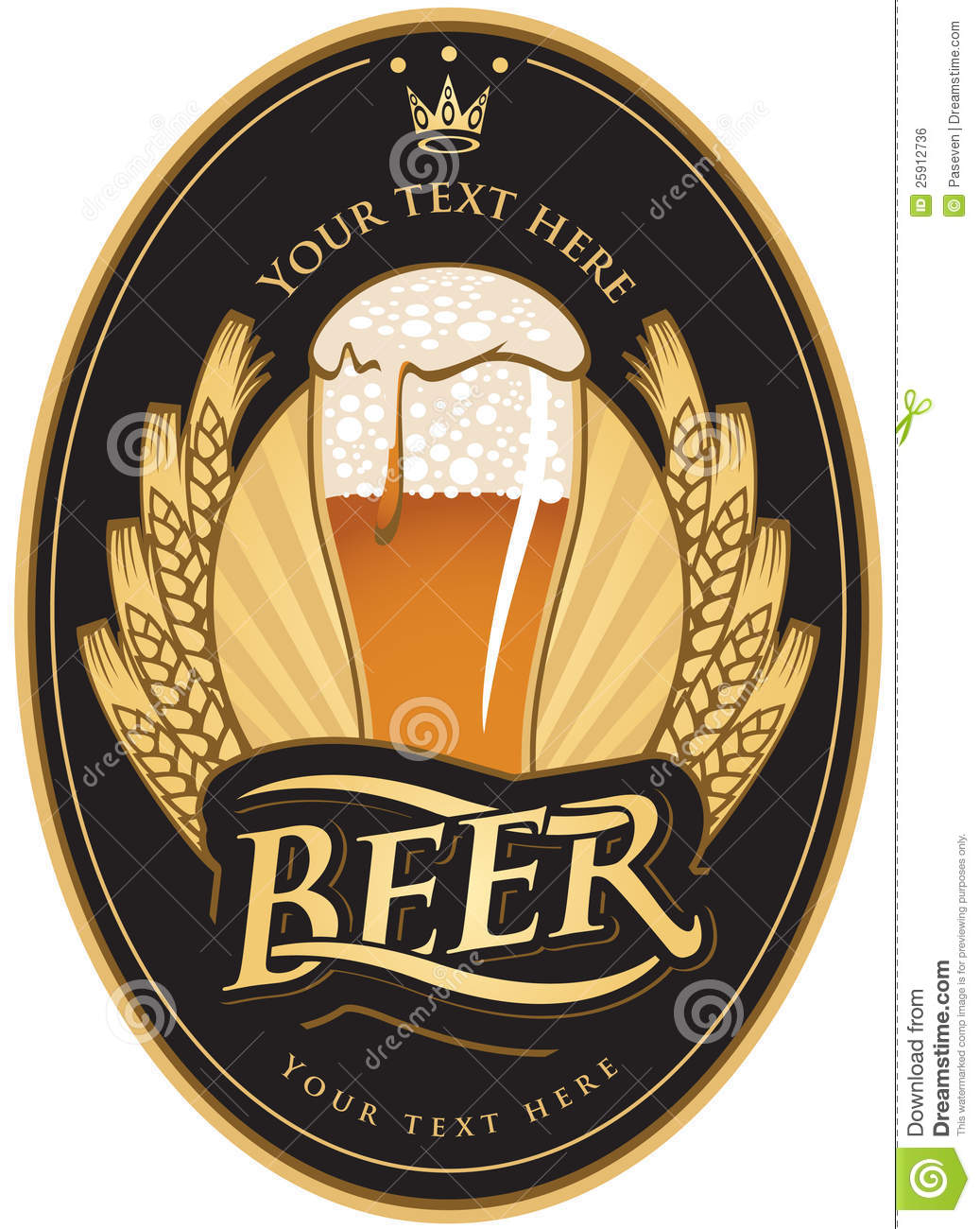 Labels For The Beer Royalty Free Stock Image Image 25912736