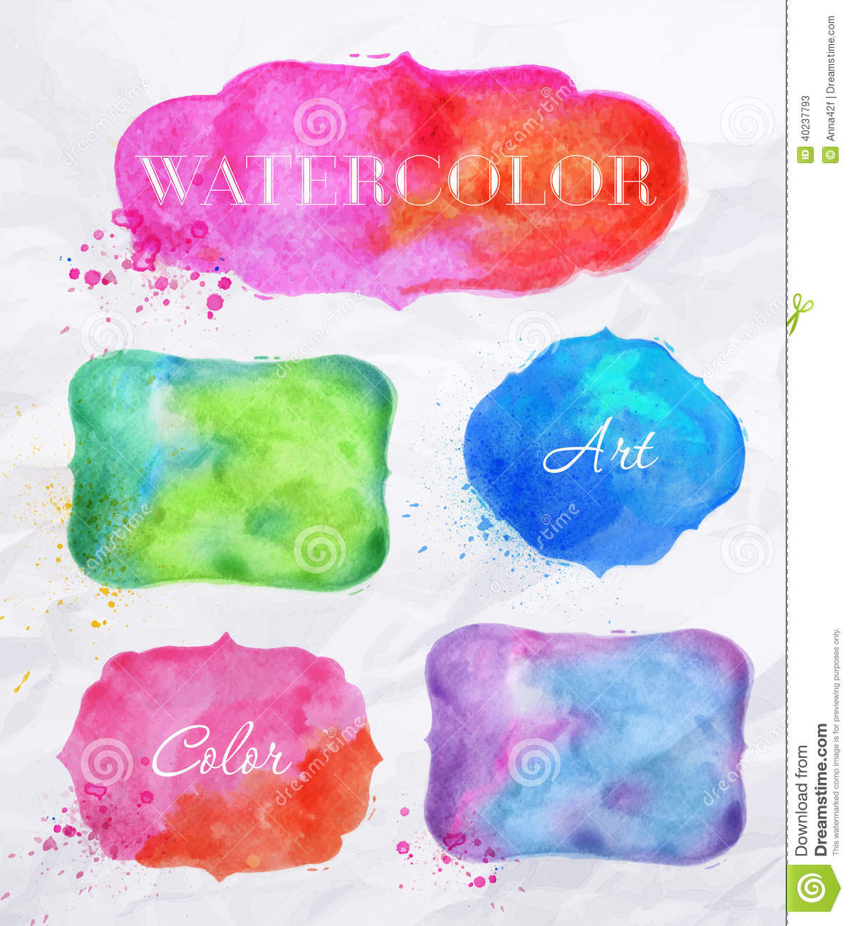 Labels d aquarelle
