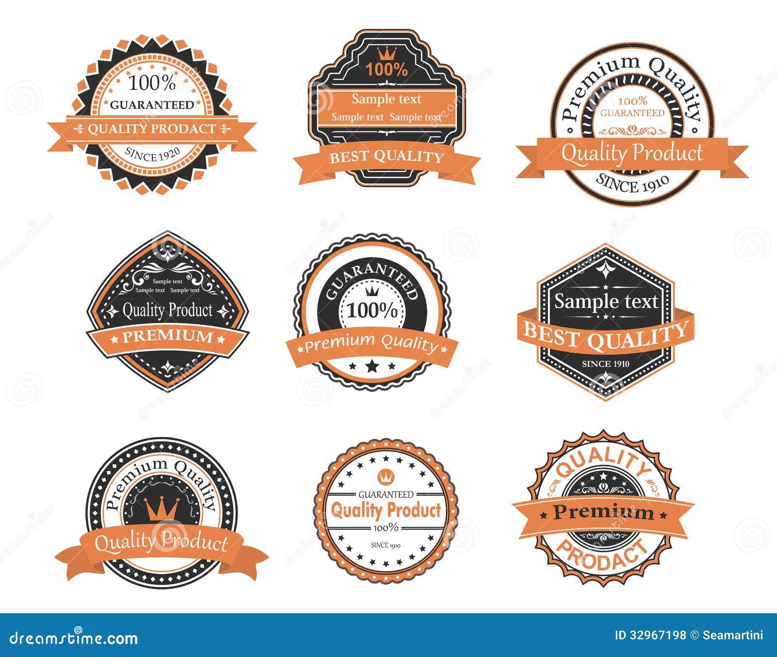 Labels de garantie d ANG de qualité