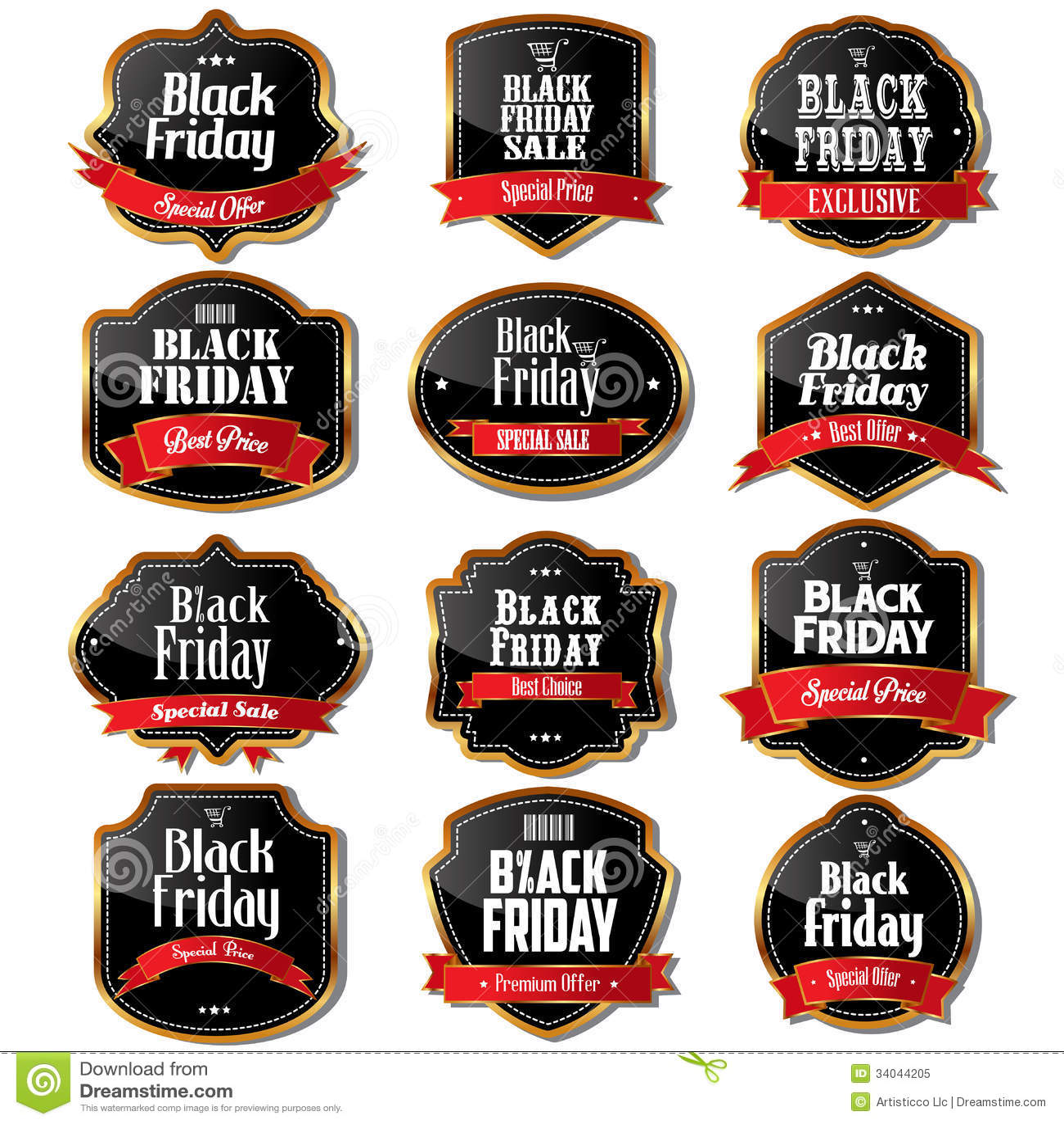Labels de vente de Black Friday