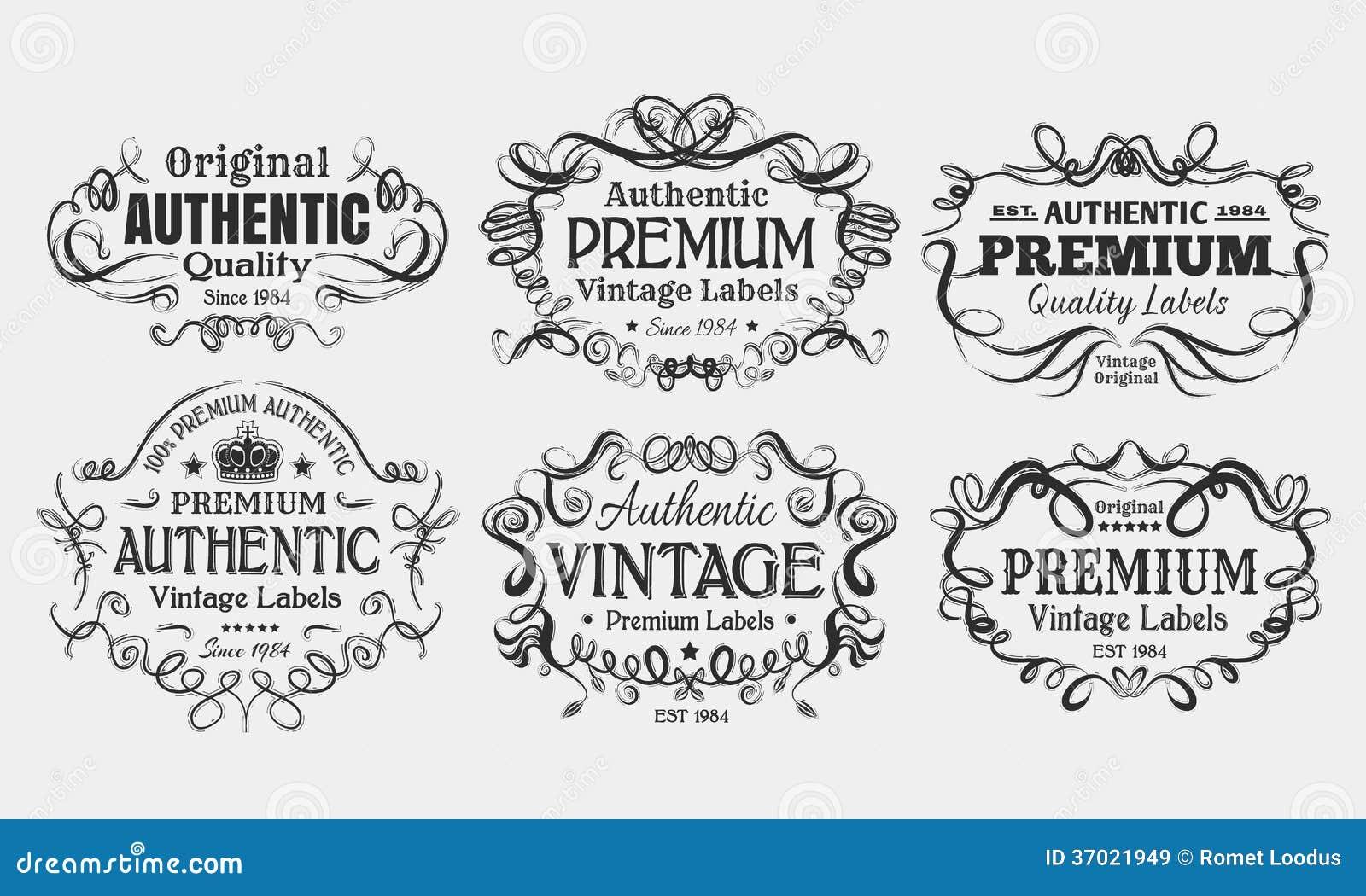 Labels de vintage