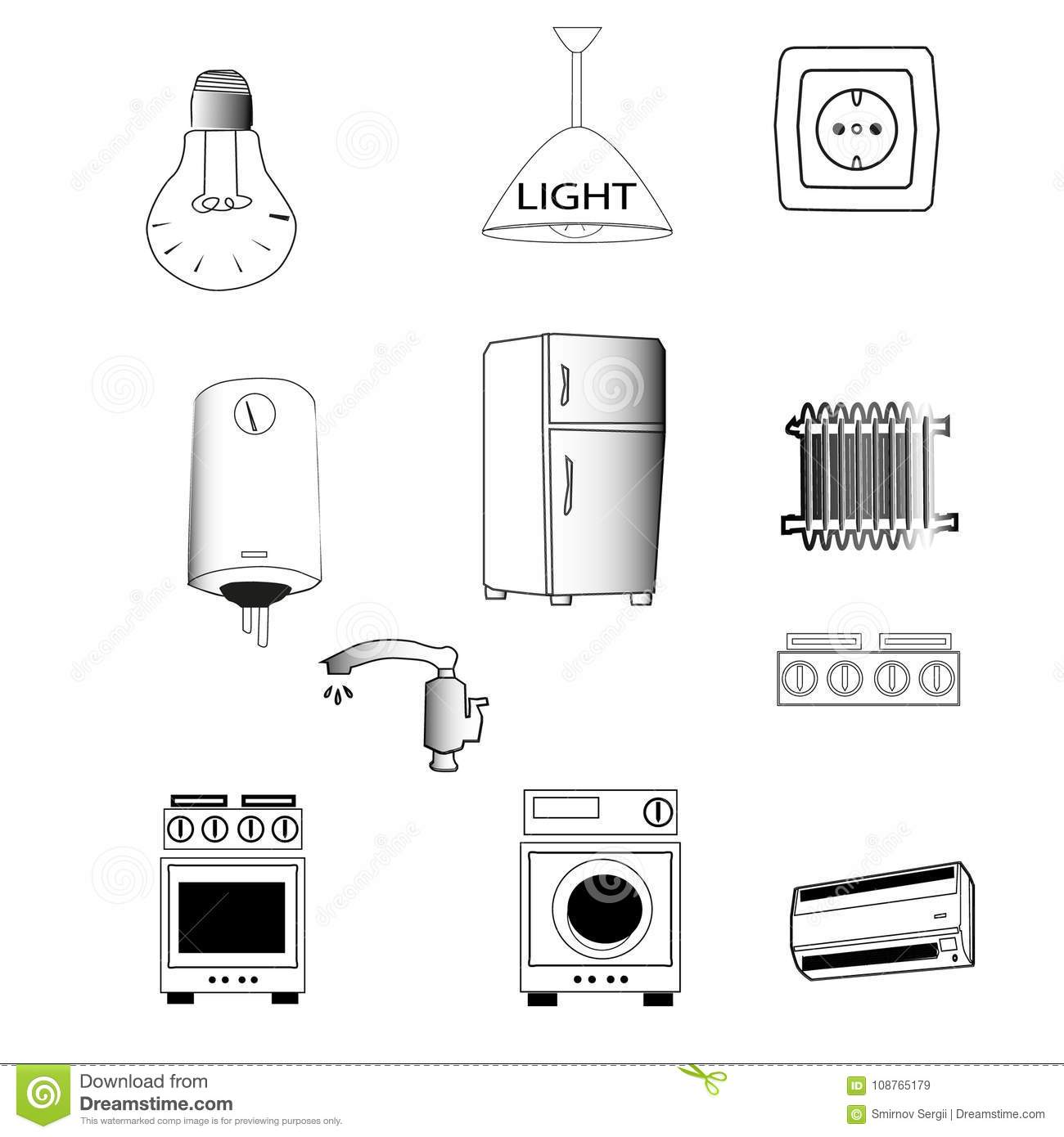 typical house in alarm system diagram