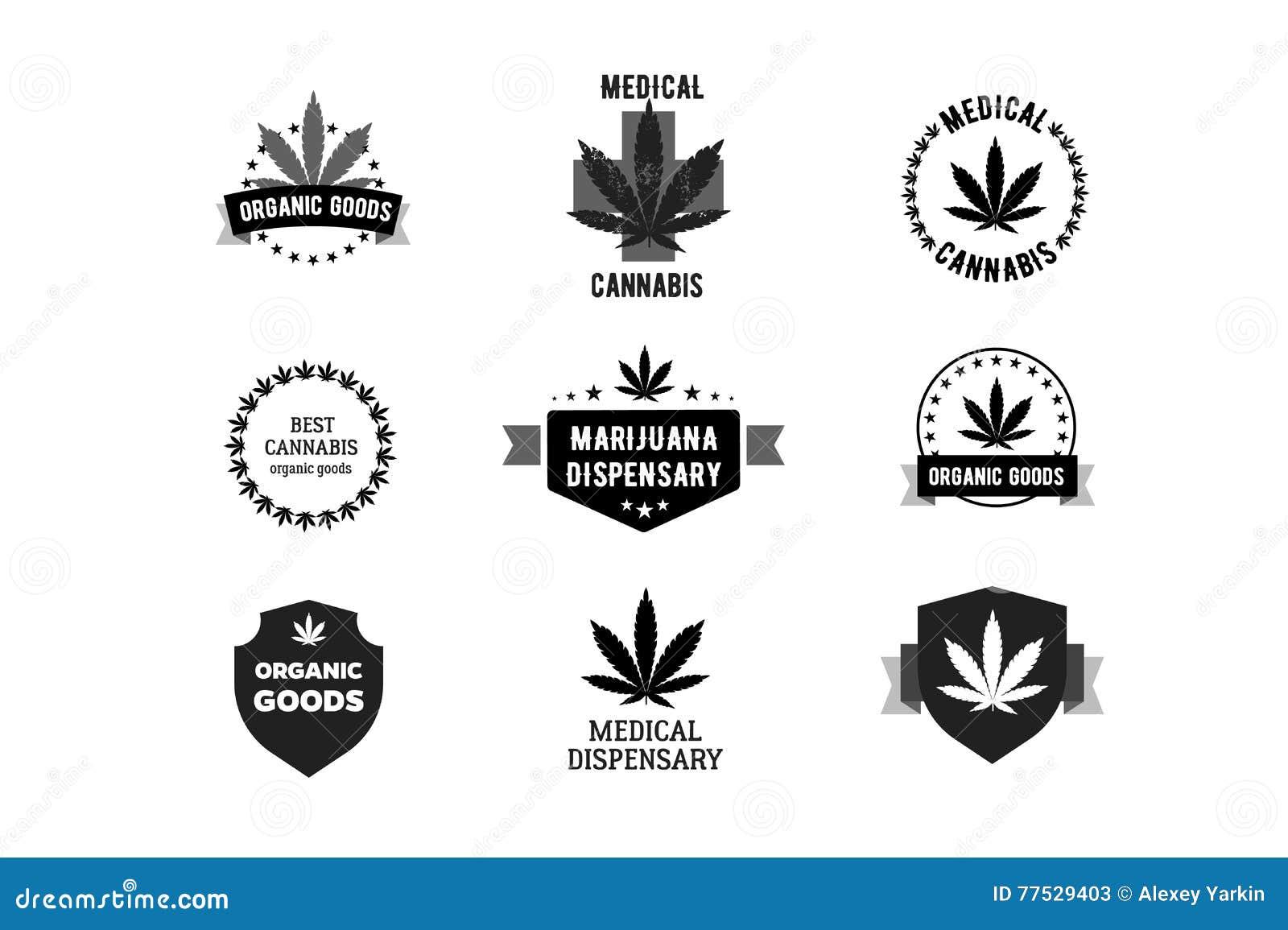 Labels for medical marijuana cannabis logo stock vector labels for medical marijuana cannabis logo biocorpaavc Choice Image