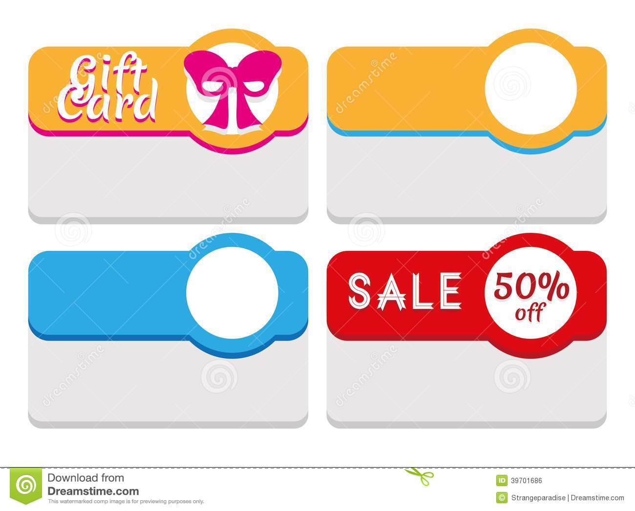 Label, Tag, Sticker And Card Template Stock Vector - Image: 39701686