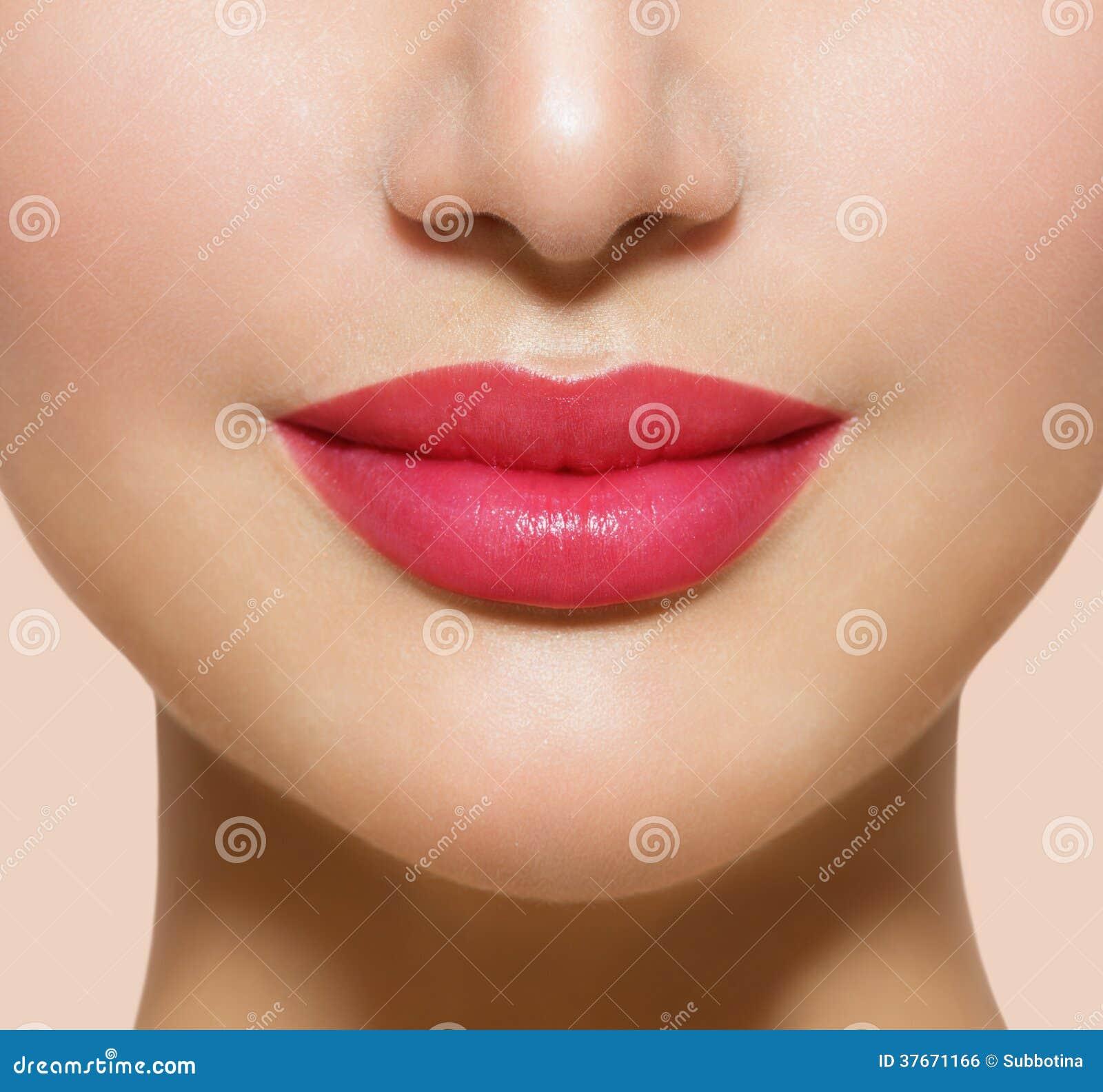 Labios perfectos hermosos