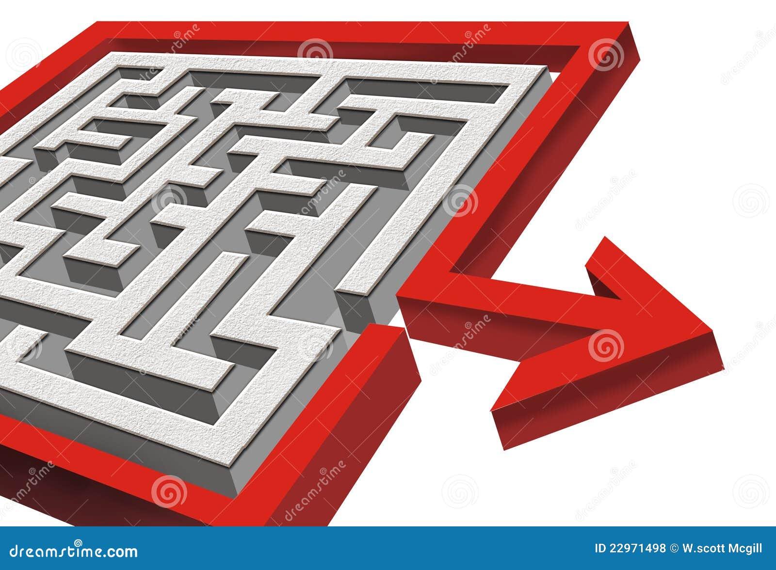 Labirinto 3d com saída