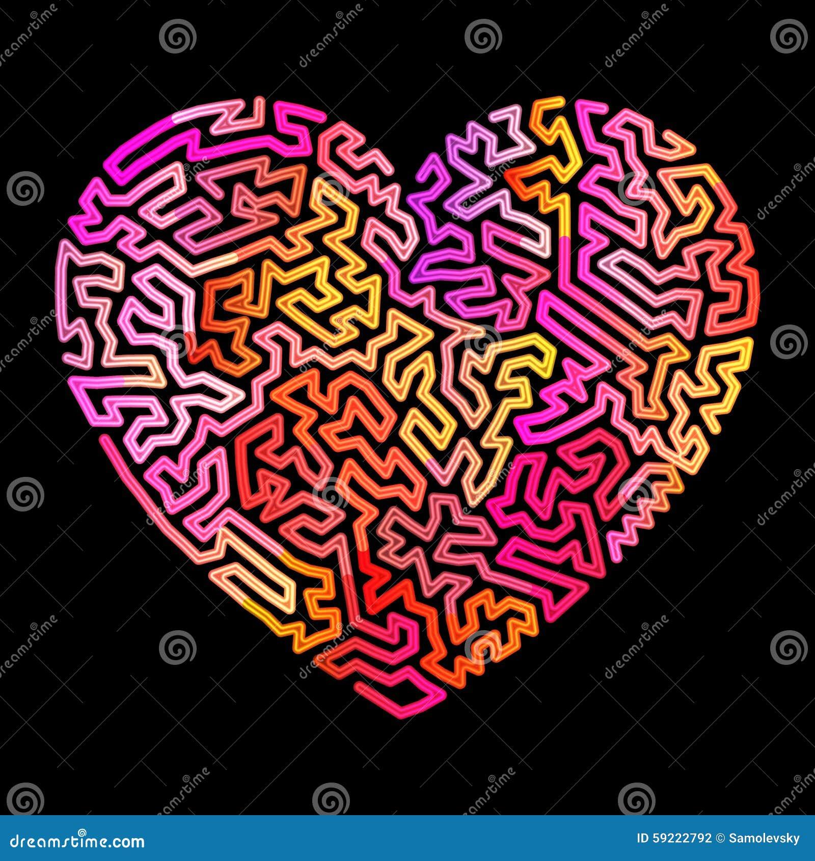 Labirinto al neon del cuore