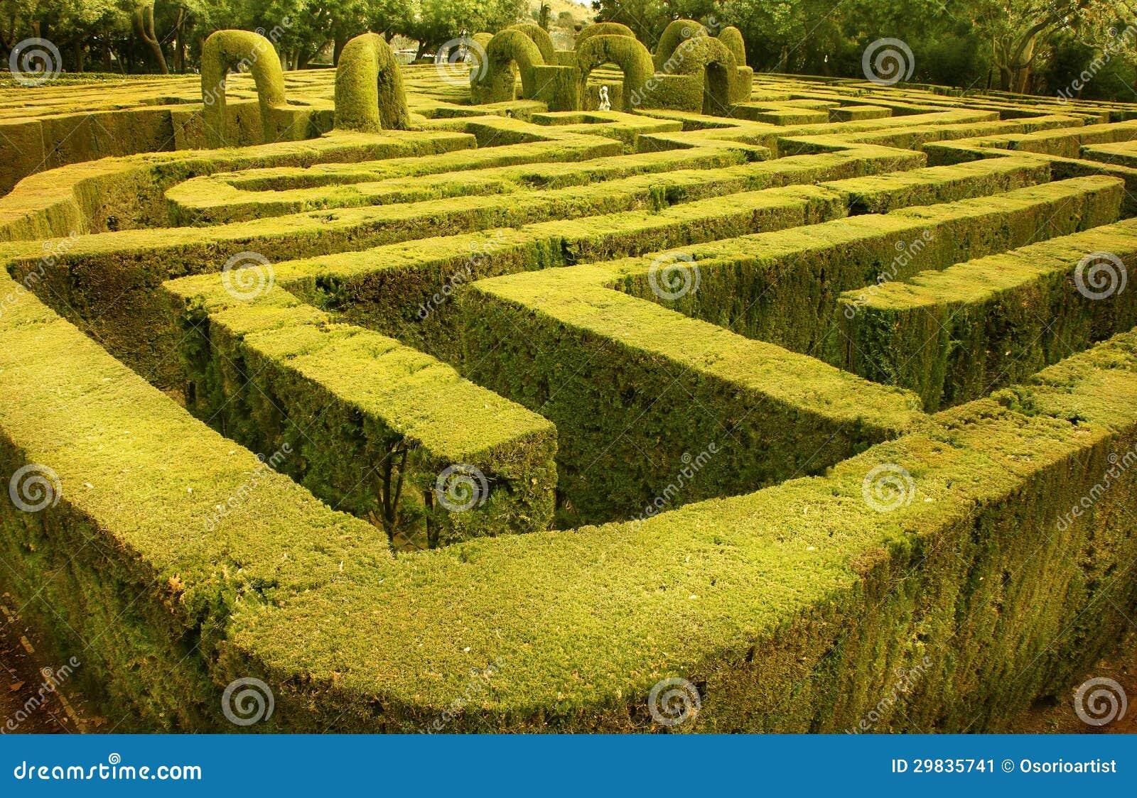 Labirinto verde em Barcelona, Spain
