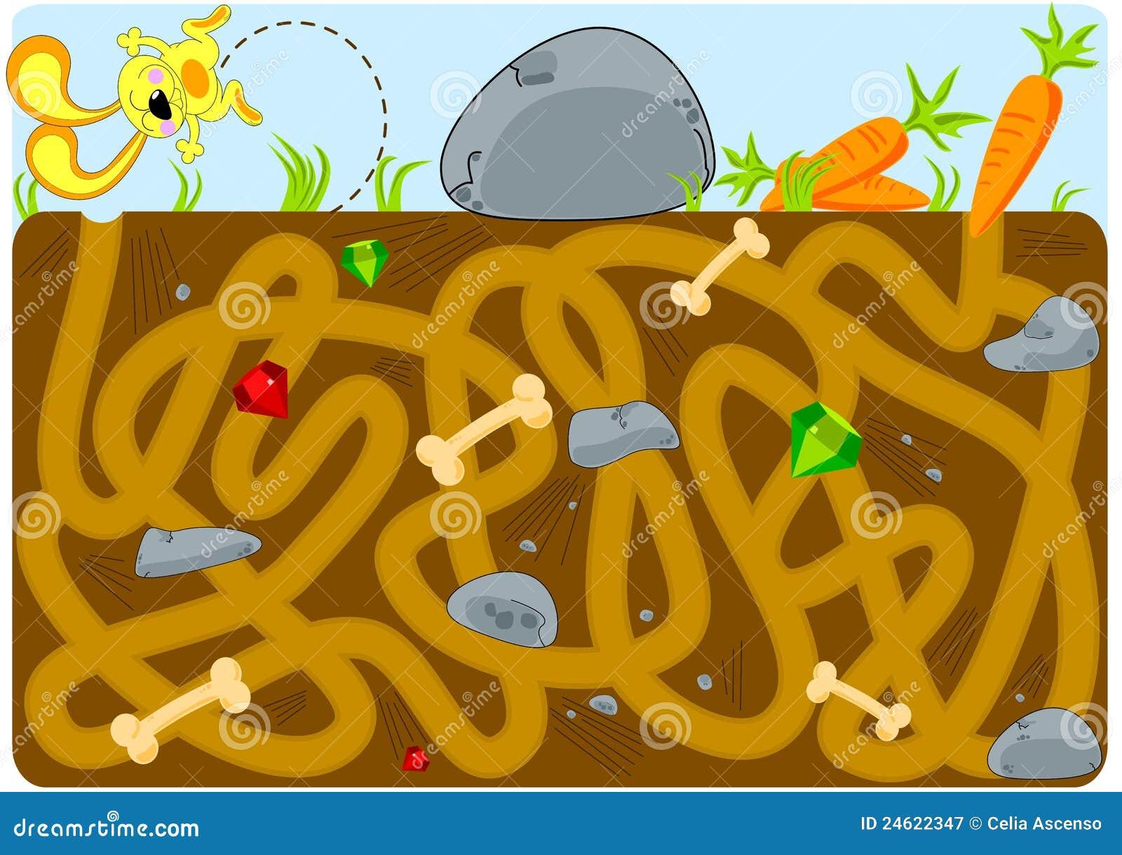 Labirinto del traforo delle carote e del coniglio