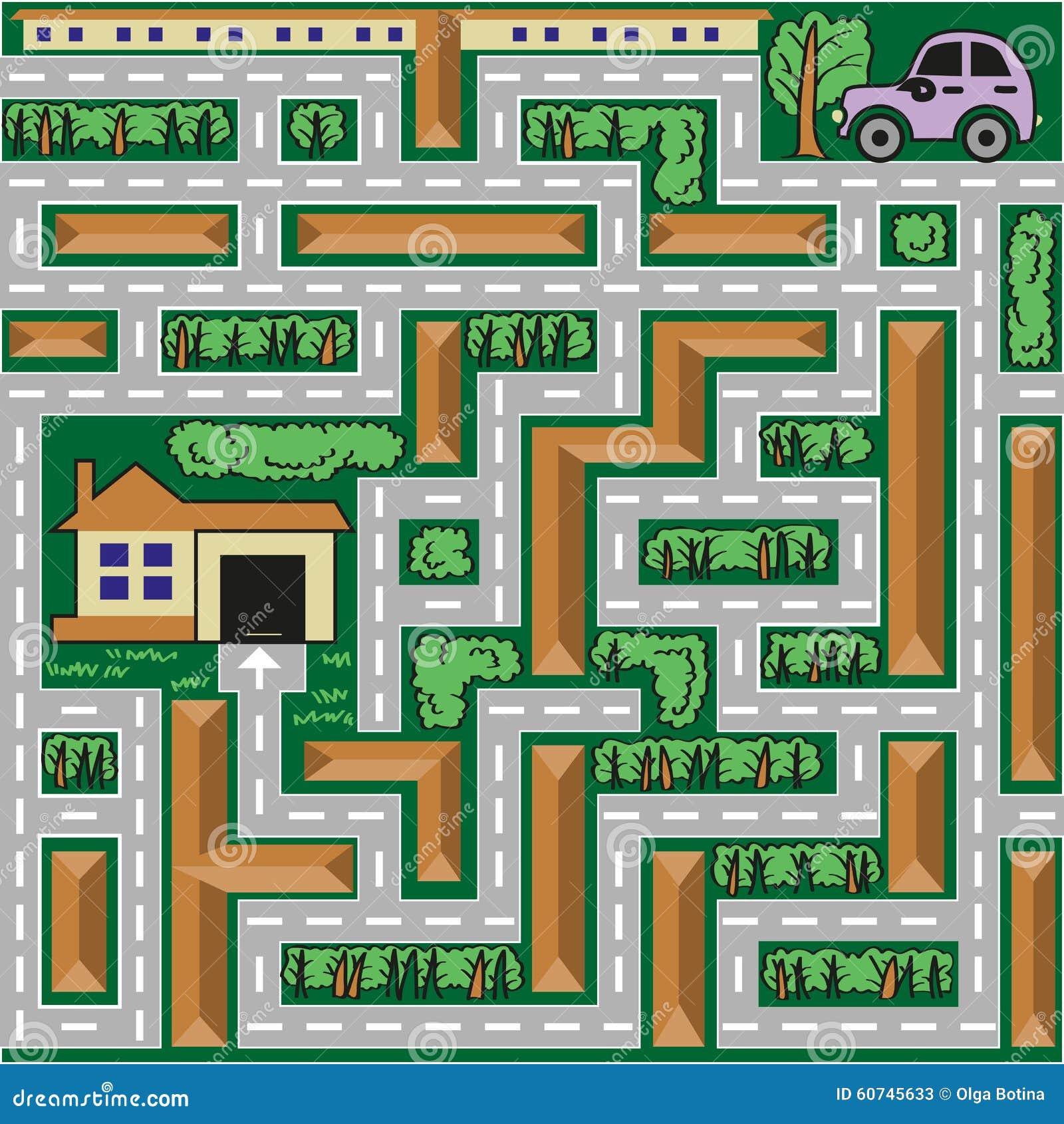 Labiryntu samochód iść do domu