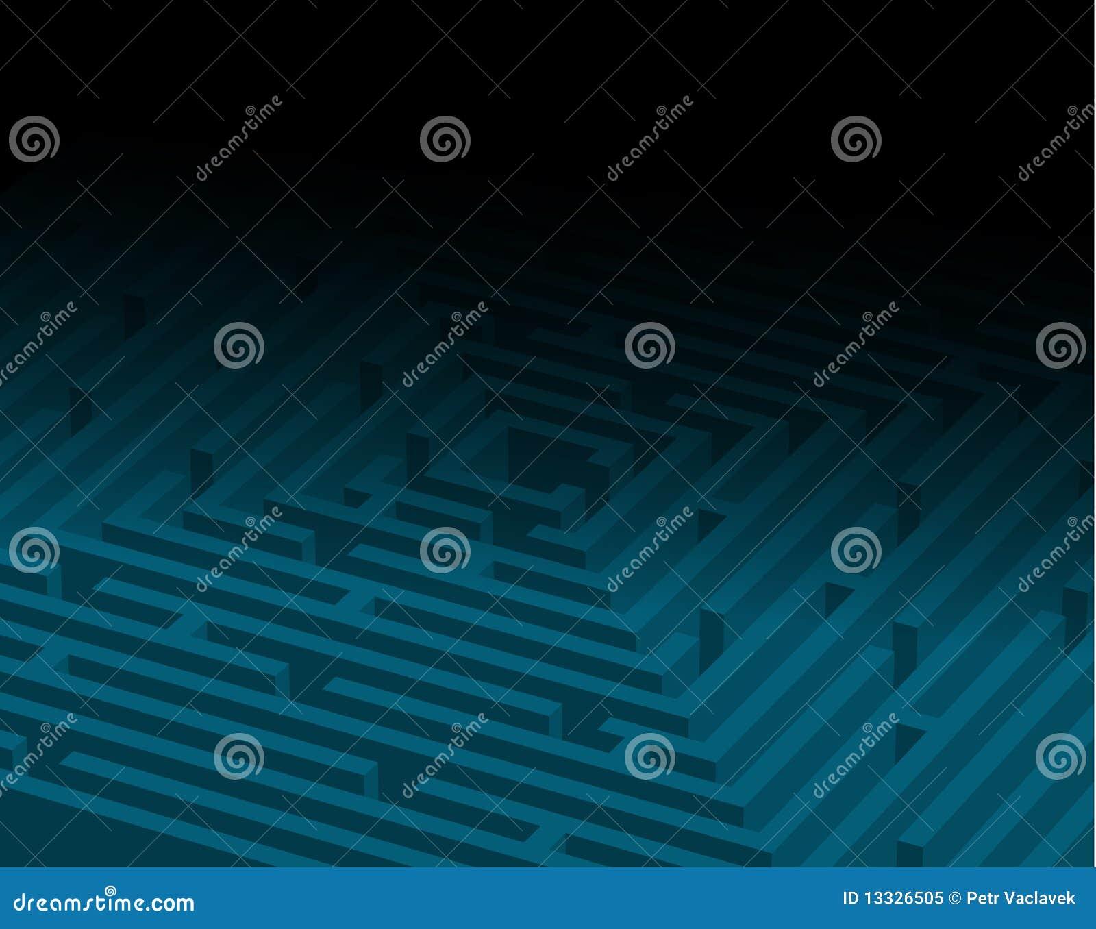 Labityntu duży błękitny labirynt