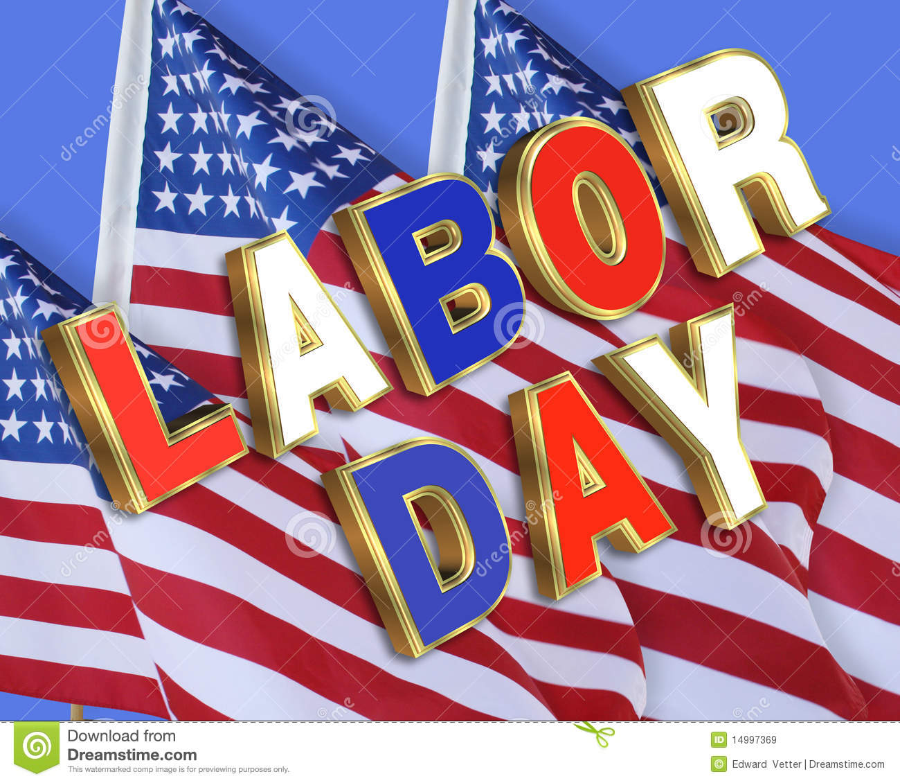 Labor Day American Flags Royalty Free Stock Images Image