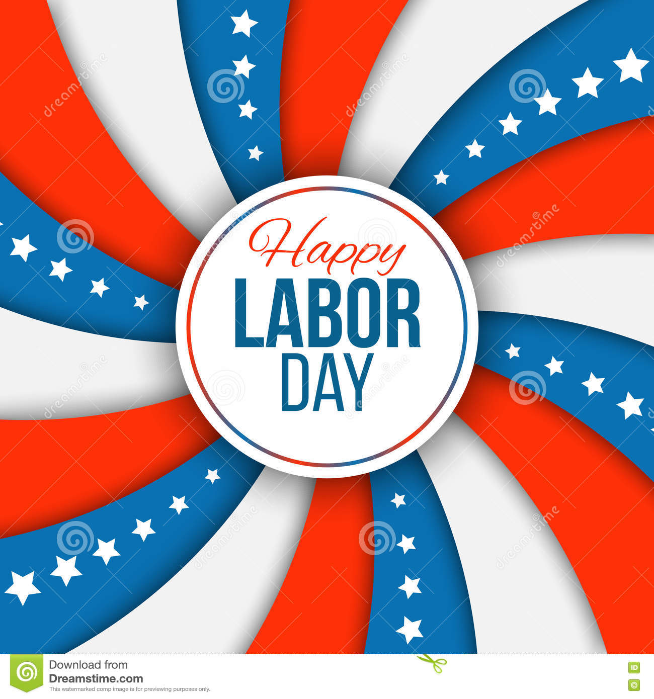 labor day background vector illustration with stars and stripes for