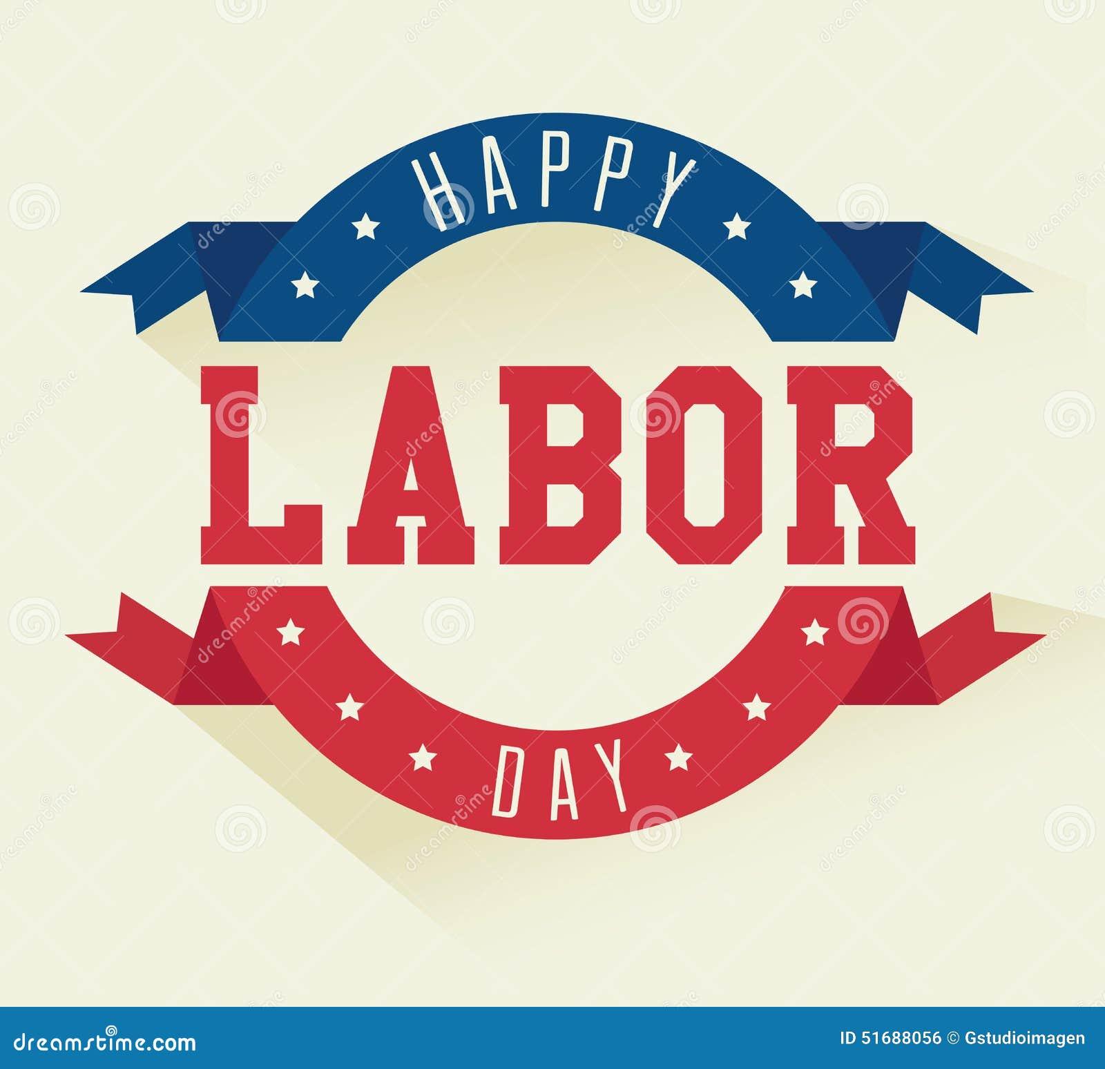Labor Day Card Design Vector Illustration Stock Vector