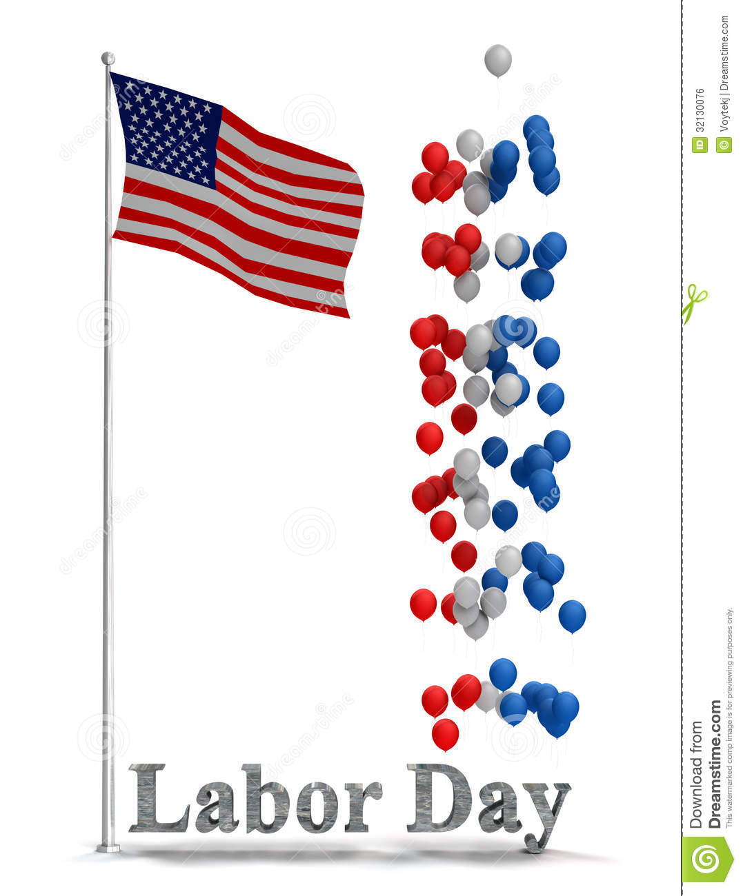 Labor Day Flyer Graphic Stock Illustration. Illustration Of Background    32130076