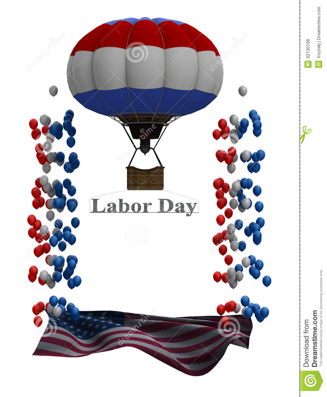 Labor Day Flyer Graphic Stock Illustration Illustration Of Baloons