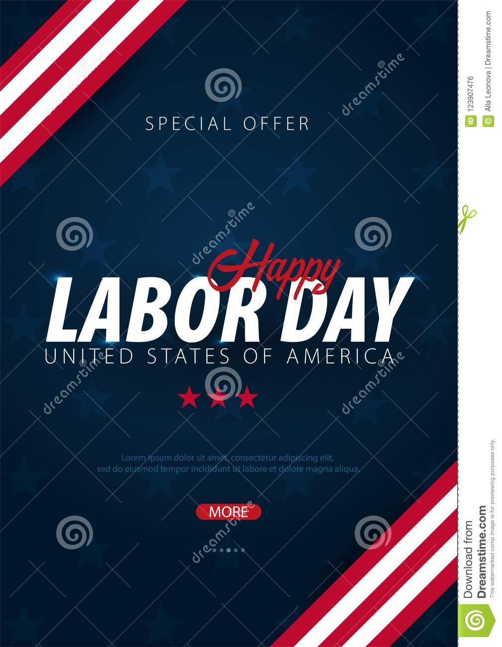labor day sale promotion advertising poster banner template with