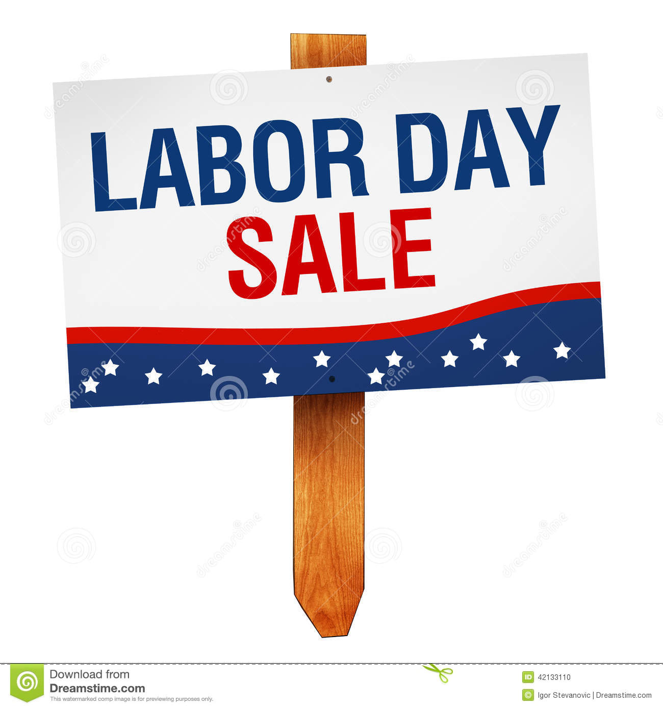 Labor Day Sale: Labor Day Sale Sign Isolated On White Background Stock