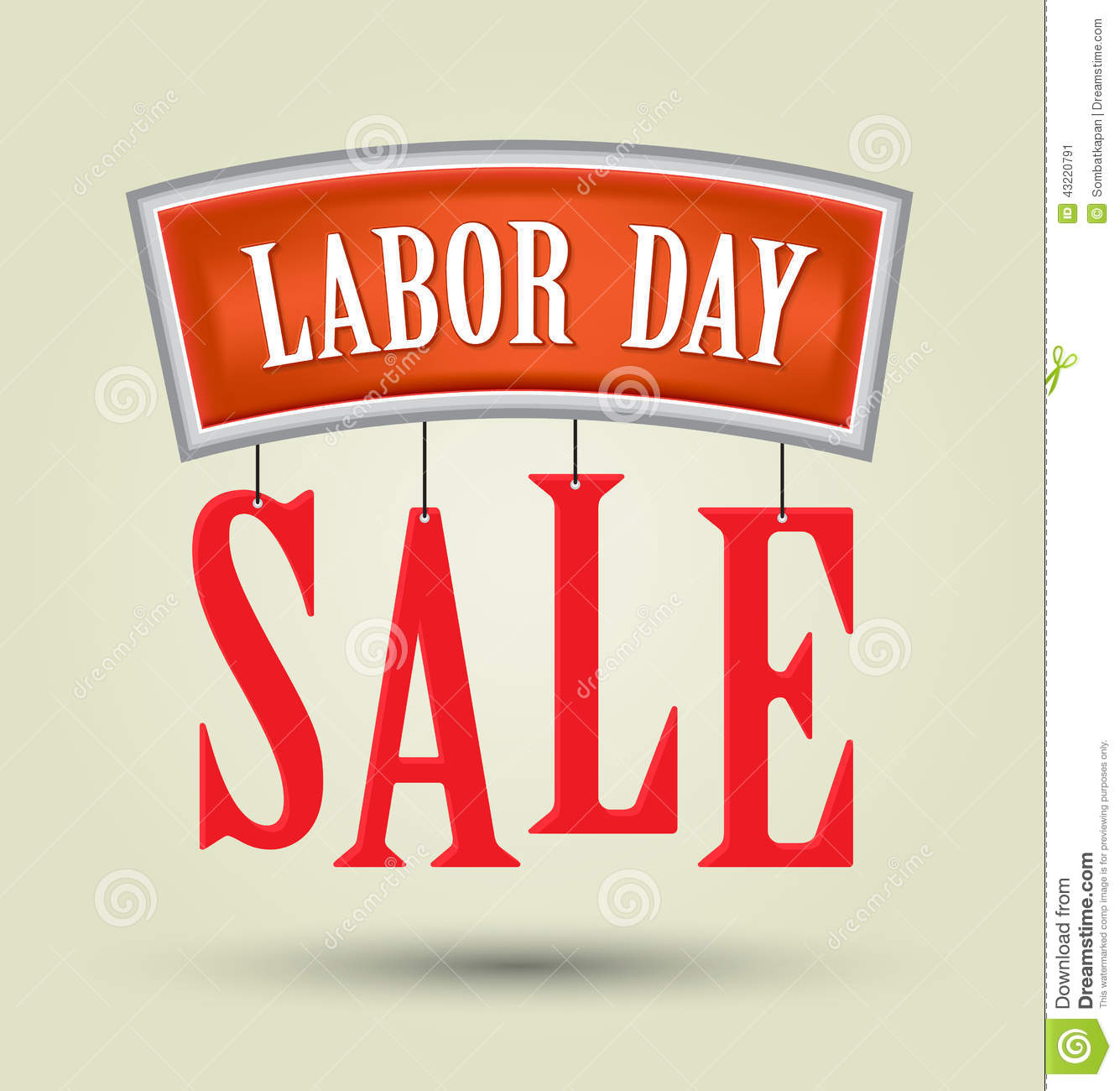 Labor Day Sale Text Stock Vector Illustration Of Chain 43220791