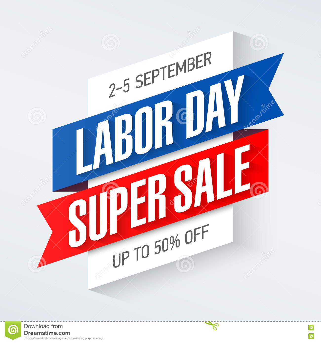 Weekend Sale Banner: Labor Day Super Sale Banner Stock Vector