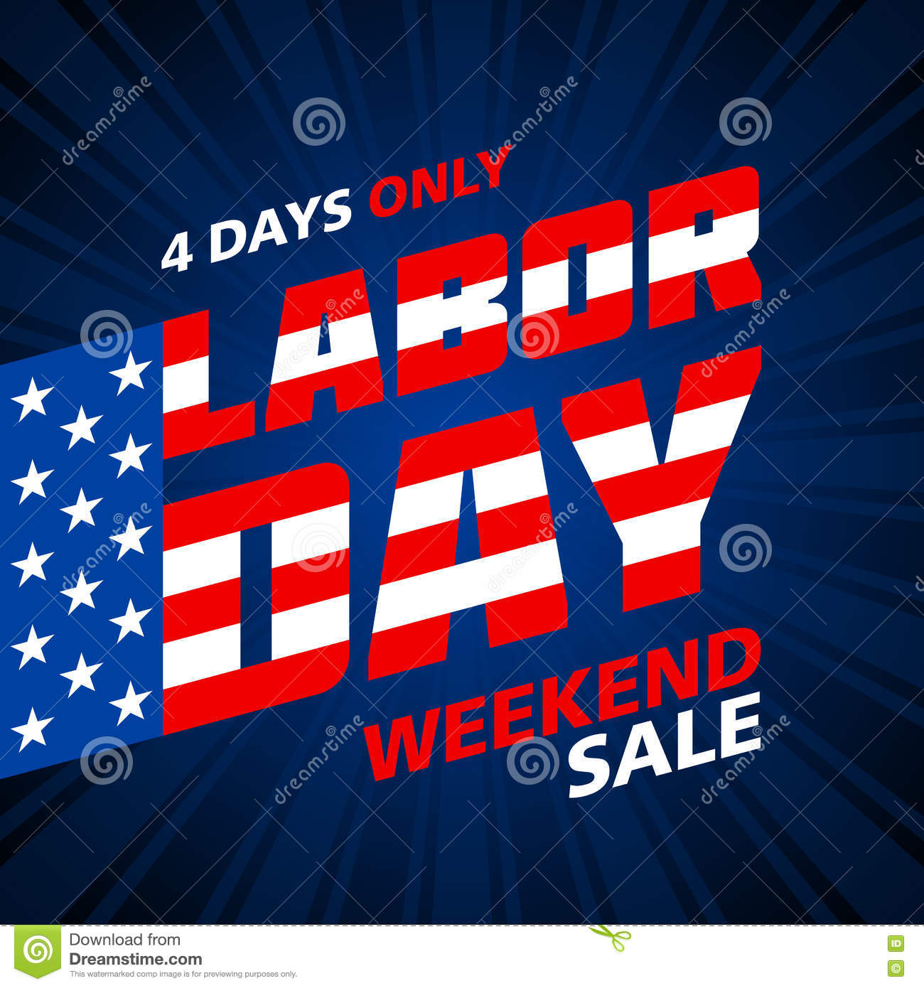 Weekend Sale Banner: Labor Day Weekend Sale Stock Vector. Illustration Of
