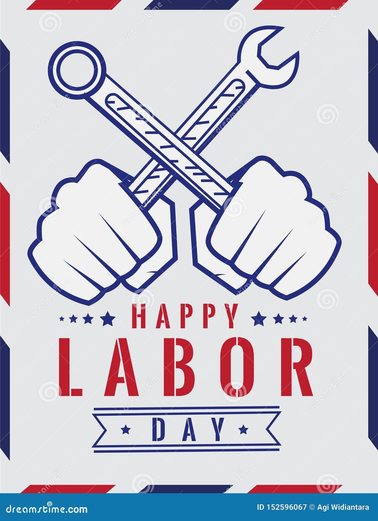 Labor simple Illustration Poster Design