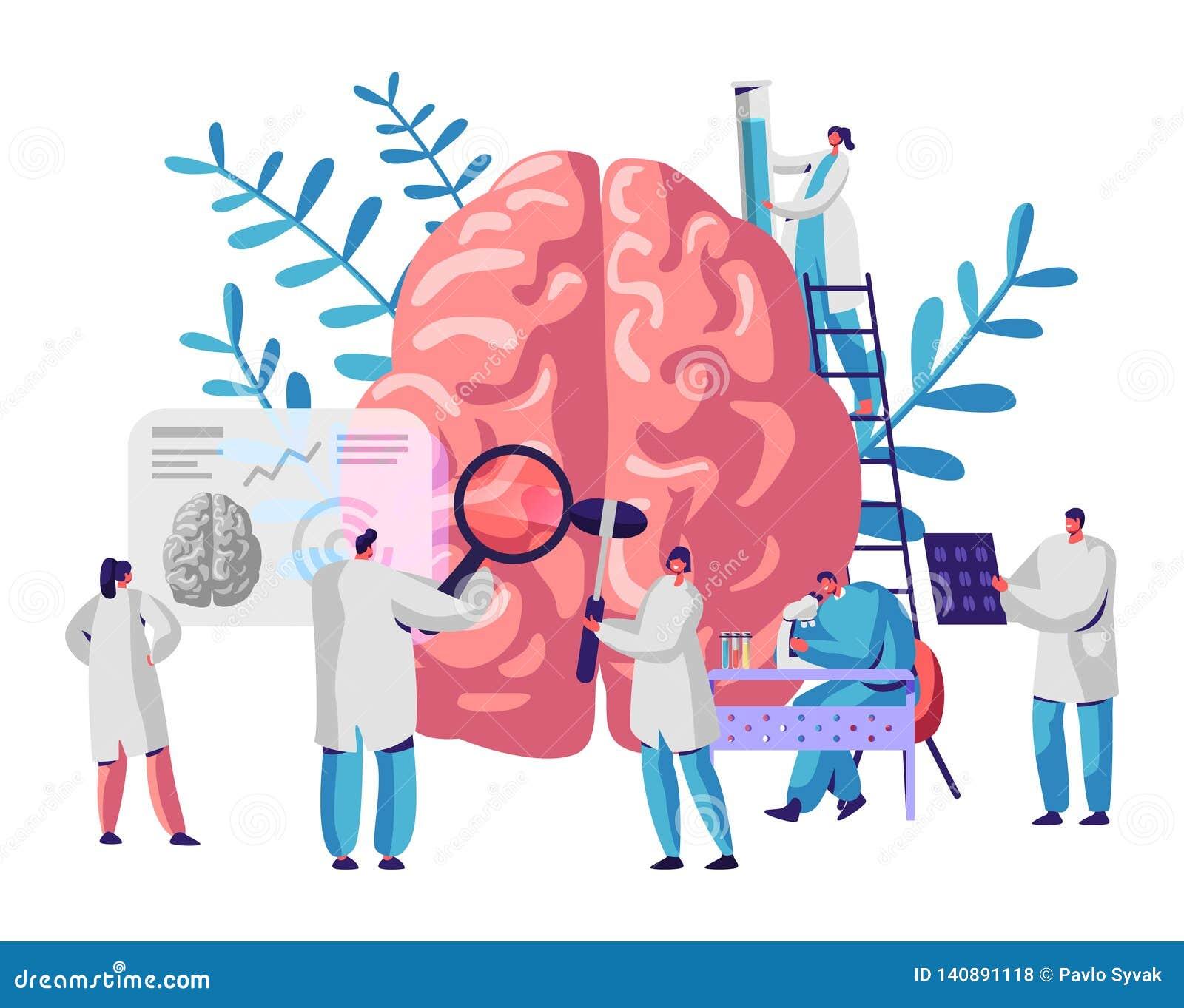 Laborancki naukowiec grupy nauki ludzki mózg i psychologia Badania Medyczne mikroskop Kierownicza tomografia Chemiczny eksperymen