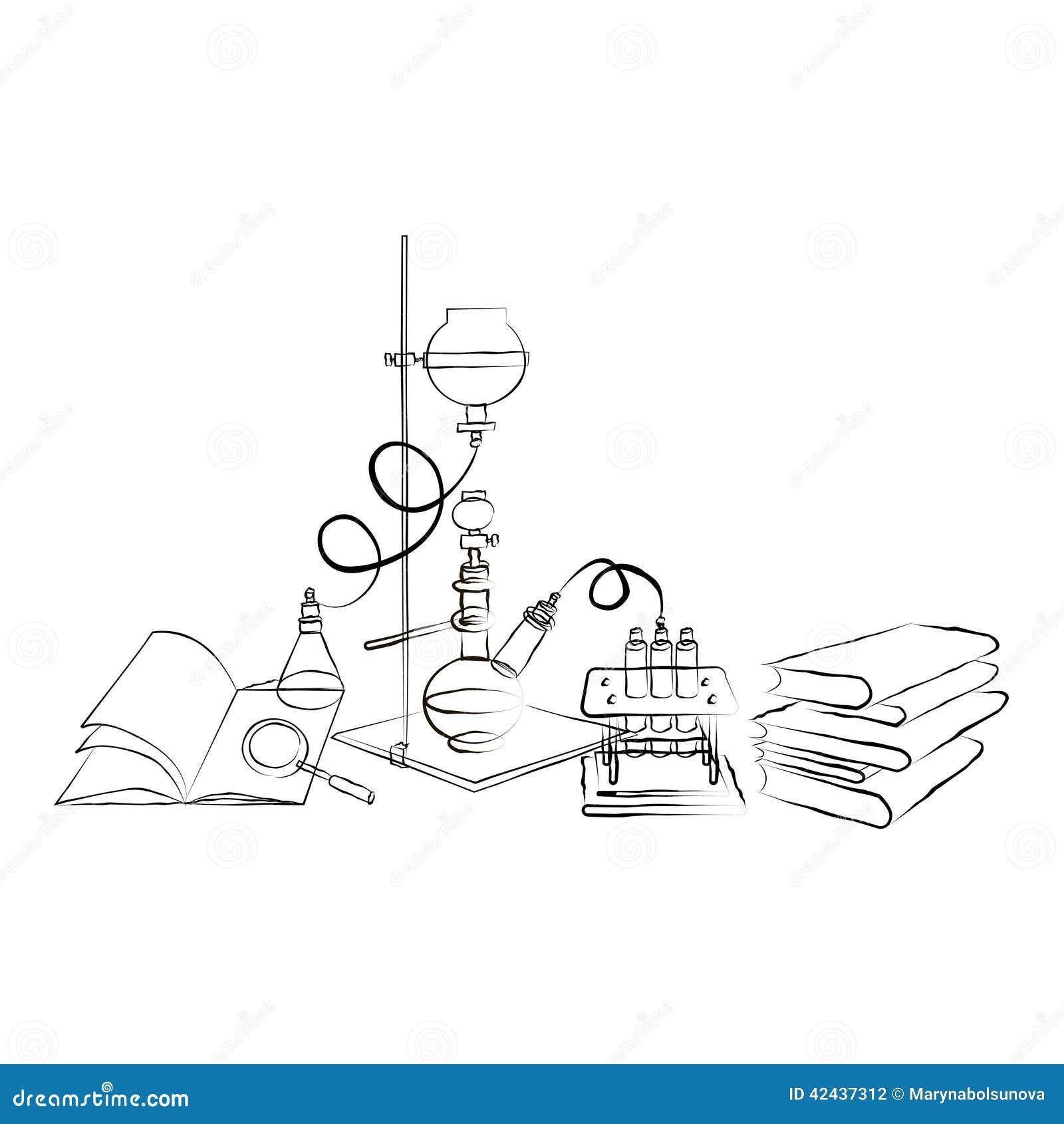Laboratorio de la sustancia química del garabato