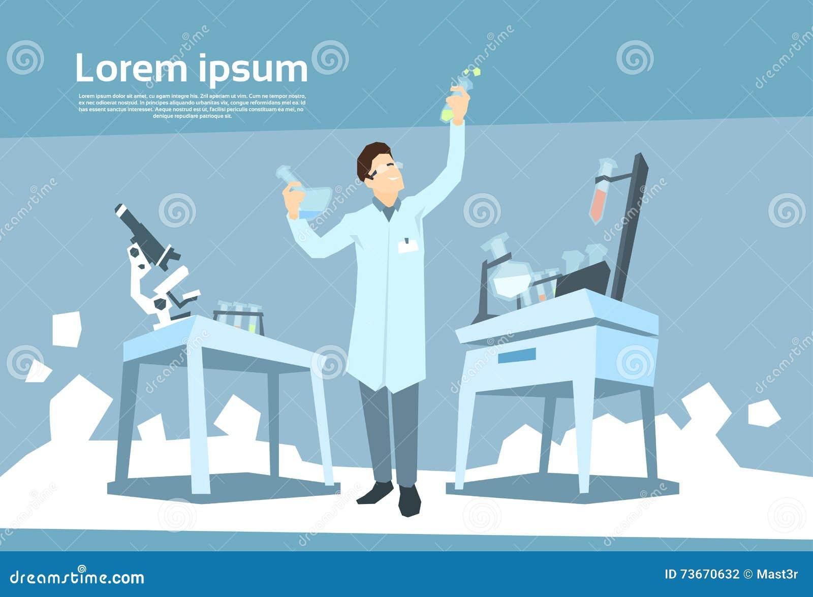 Laboratorio de Working Research Chemical del científico