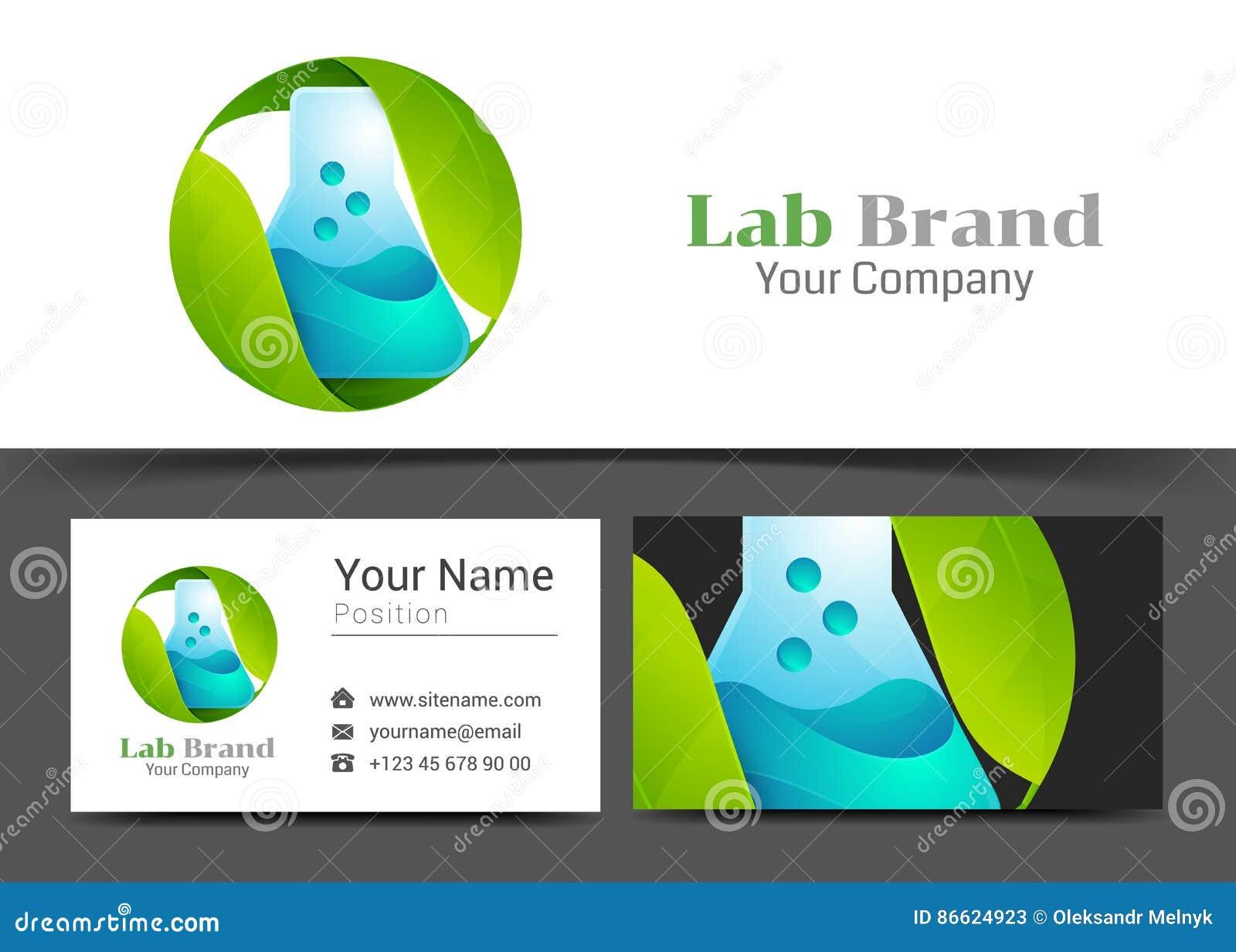 Laboratorio Verde Corporate Logo De La Hoja Y Plantilla De La ...