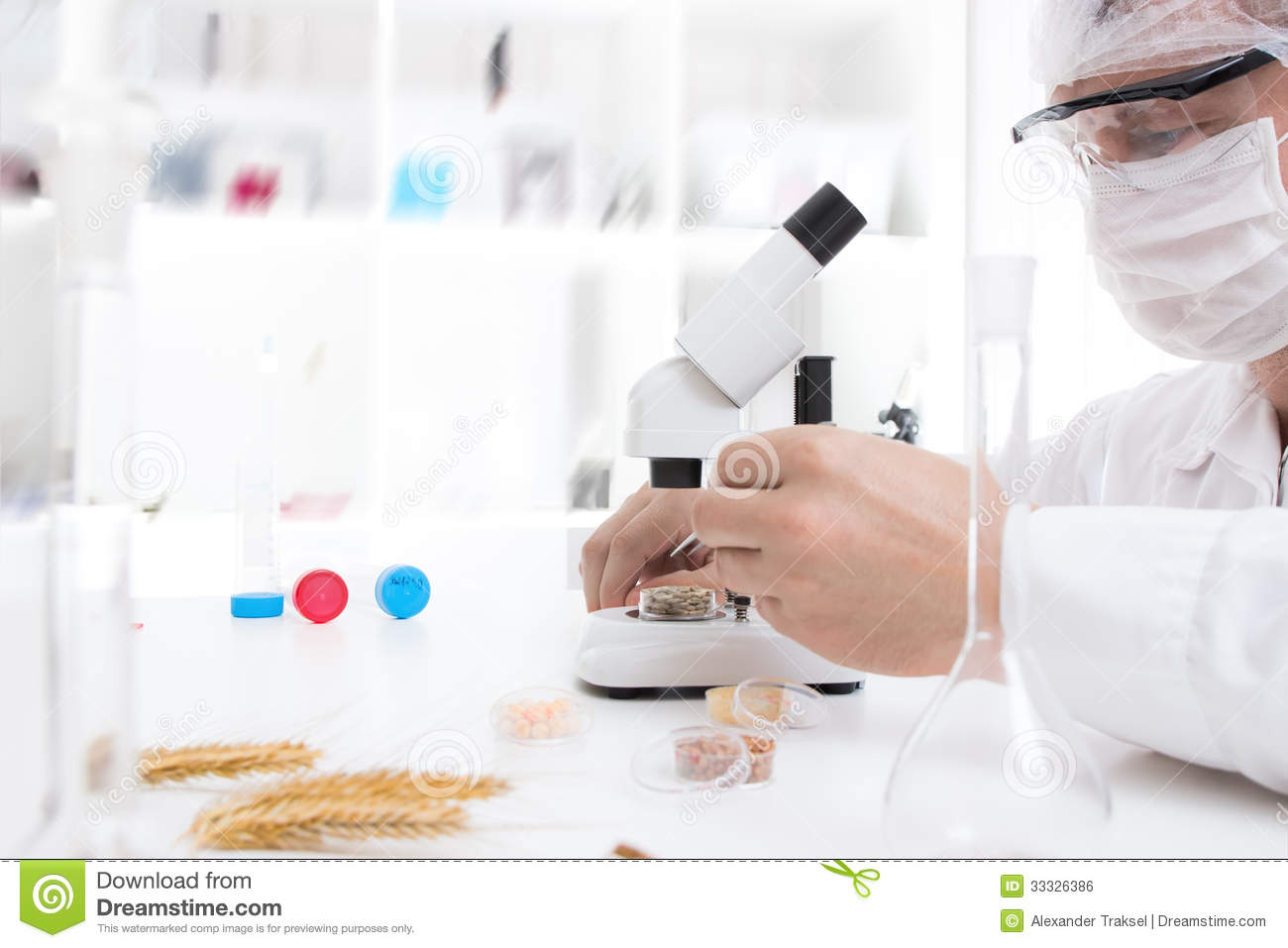 Laboratory assistant in the laboratory royalty free stock for Assistant cuisine