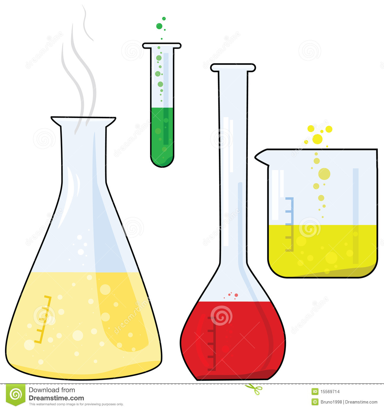 ... illustration of different pieces of equipment from a chemistry lab